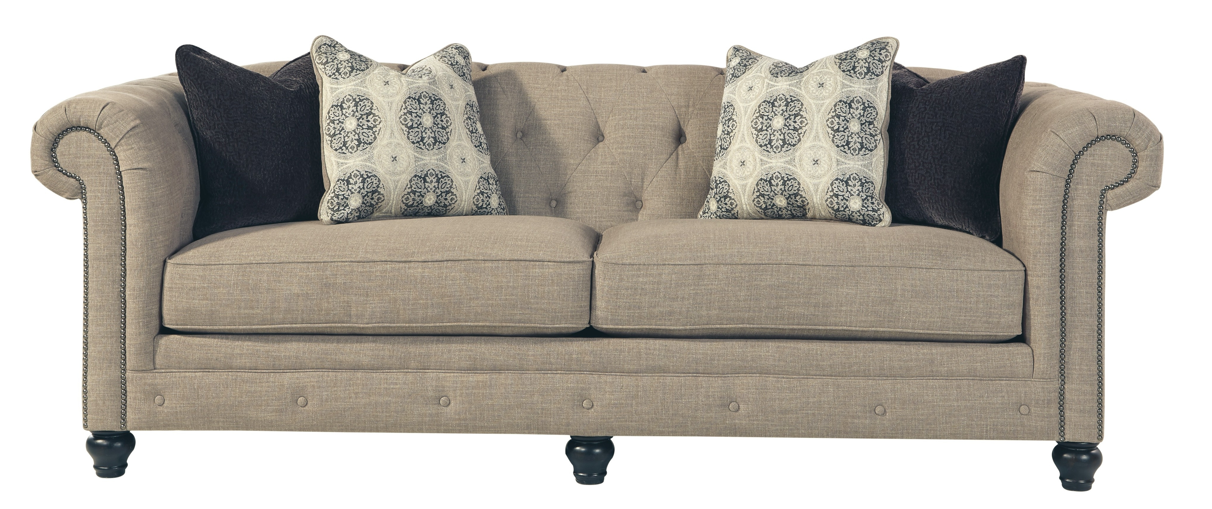 Ashley 9940238 Azlyn Tufted Back Sofa With Sepia Tone Fabric Uphostery Throughout 2019 Ashley Tufted Sofas (View 2 of 20)