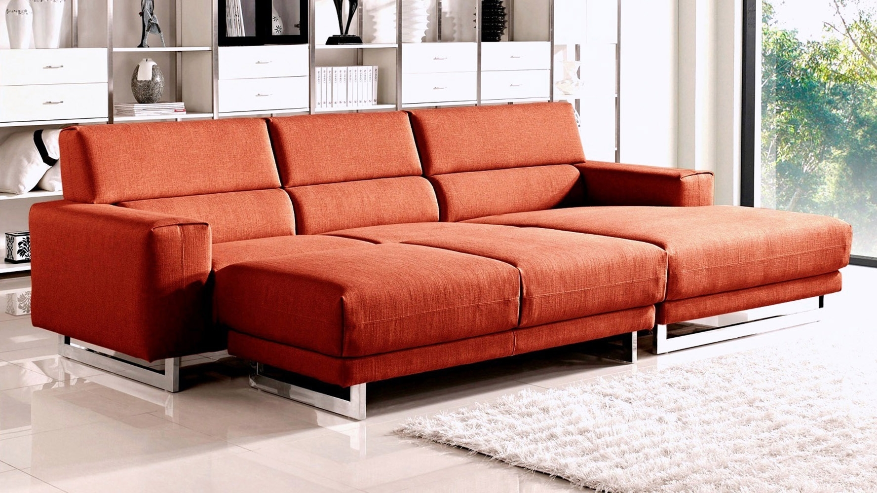 Ashley Furniture Black Friday Hampton Leather Reversible Sectional Pertaining To Best And Newest Sectional Sleeper Sofas With Ottoman (View 4 of 20)