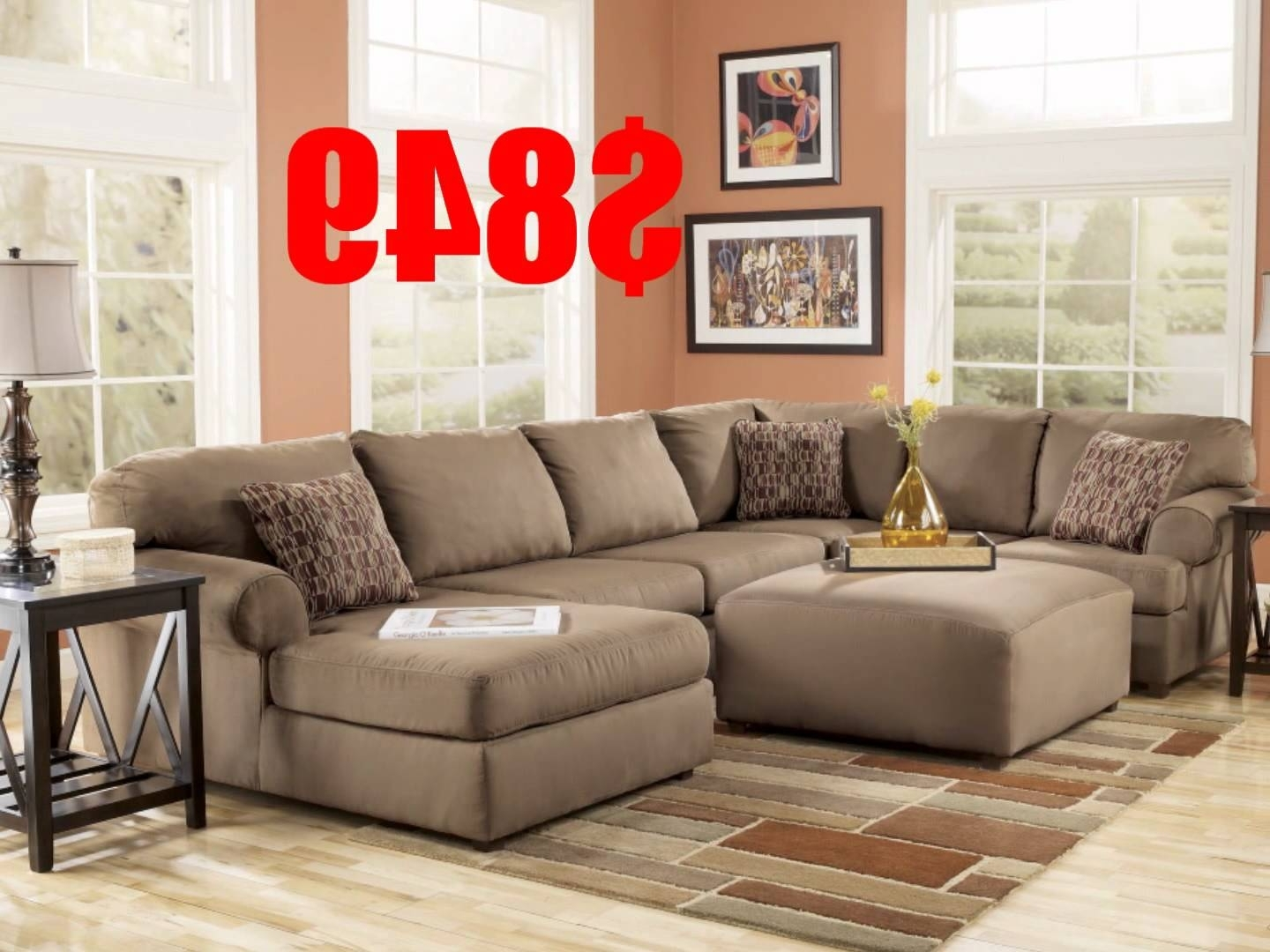 Ashley Furniture Brody Mocha Sectional – Youtube Within Newest Sectional Sofas At Ashley Furniture (View 2 of 20)