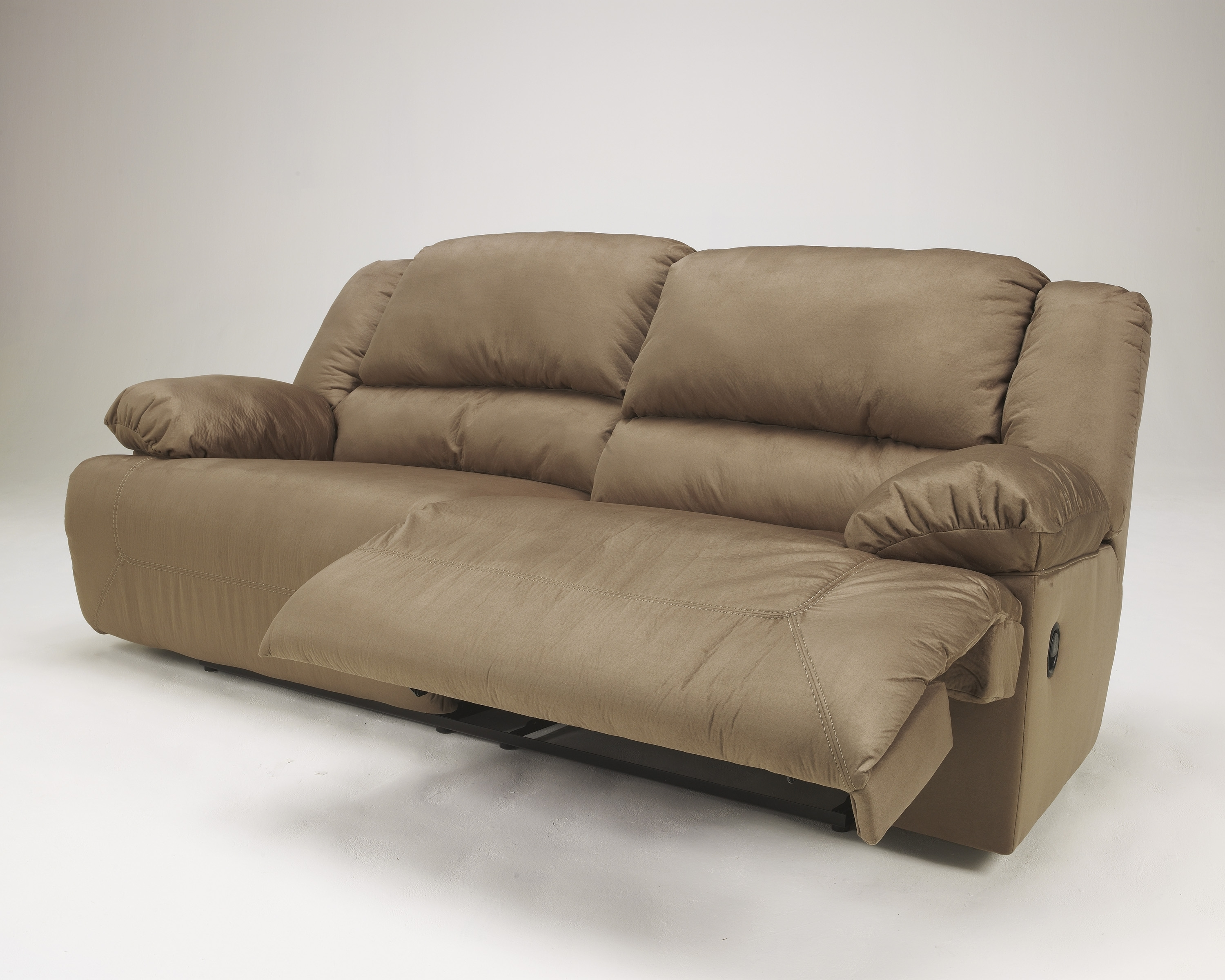 Ashley Furniture Hogan Mocha Two Seat Reclining Sofa View 8 Of 20