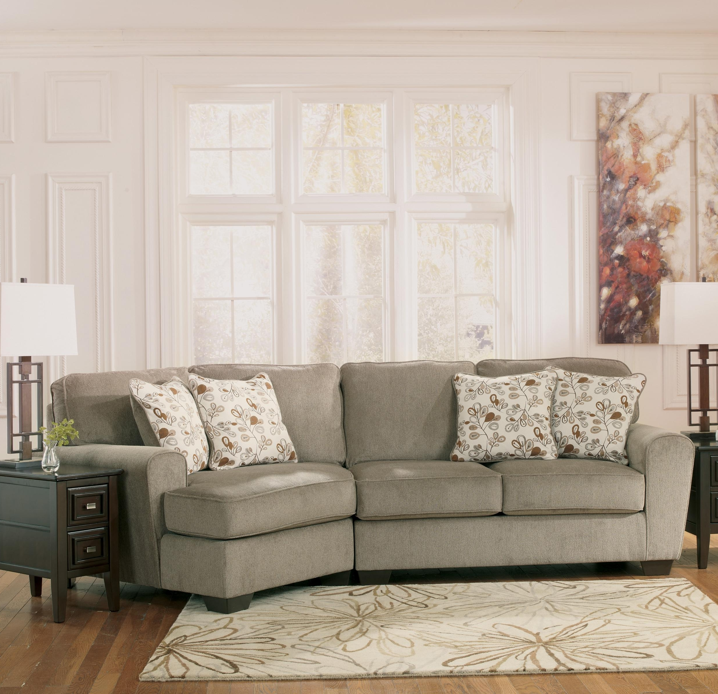 Ashley Furniture Patola Park – Patina 2 Piece Sectional With Right For Popular Sectional Sofas With Cuddler (View 15 of 20)