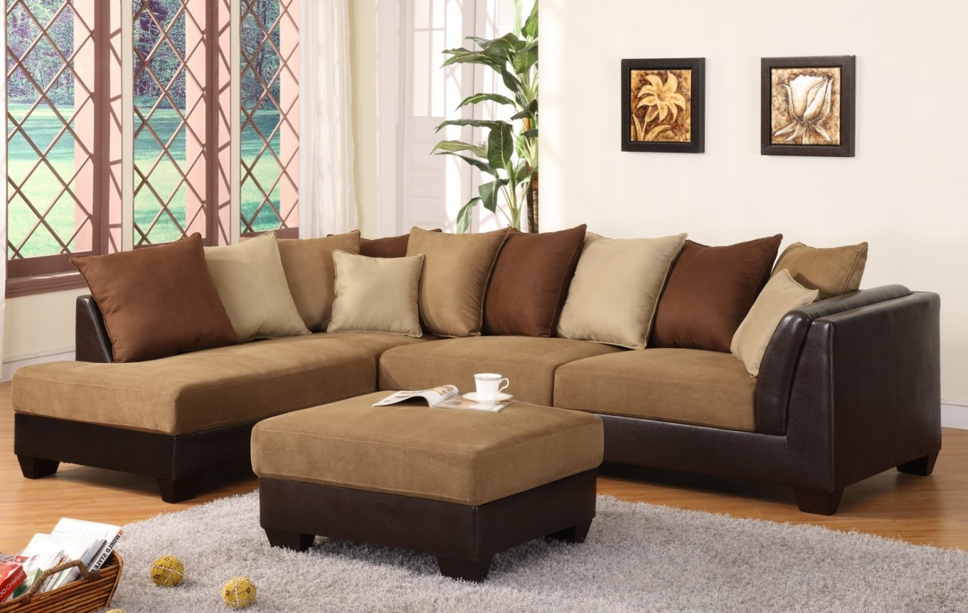 Ashley Furniture Sectional Sofas Sectional Sofas With Recliners Inside Fashionable Microsuede Sectional Sofas (View 2 of 20)