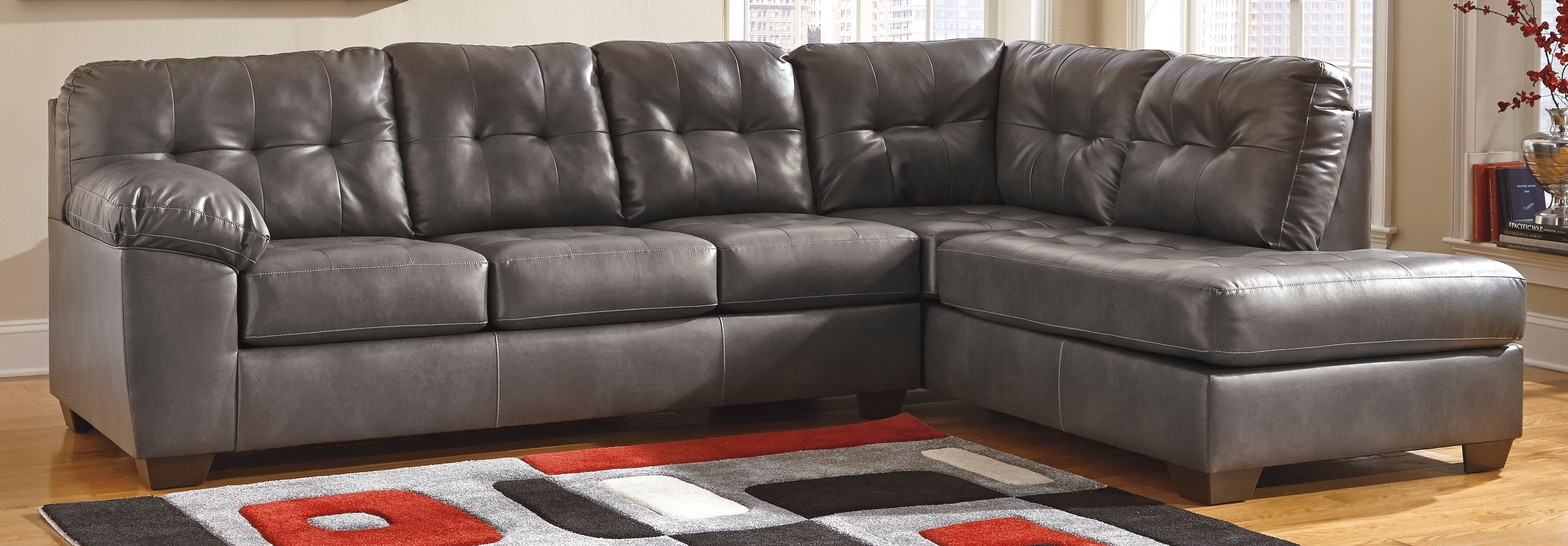 Ashley Tufted Sofas In Widely Used Buy Ashley Furniture 2010267 2010216 Alliston Durablend Gray Laf (View 6 of 20)