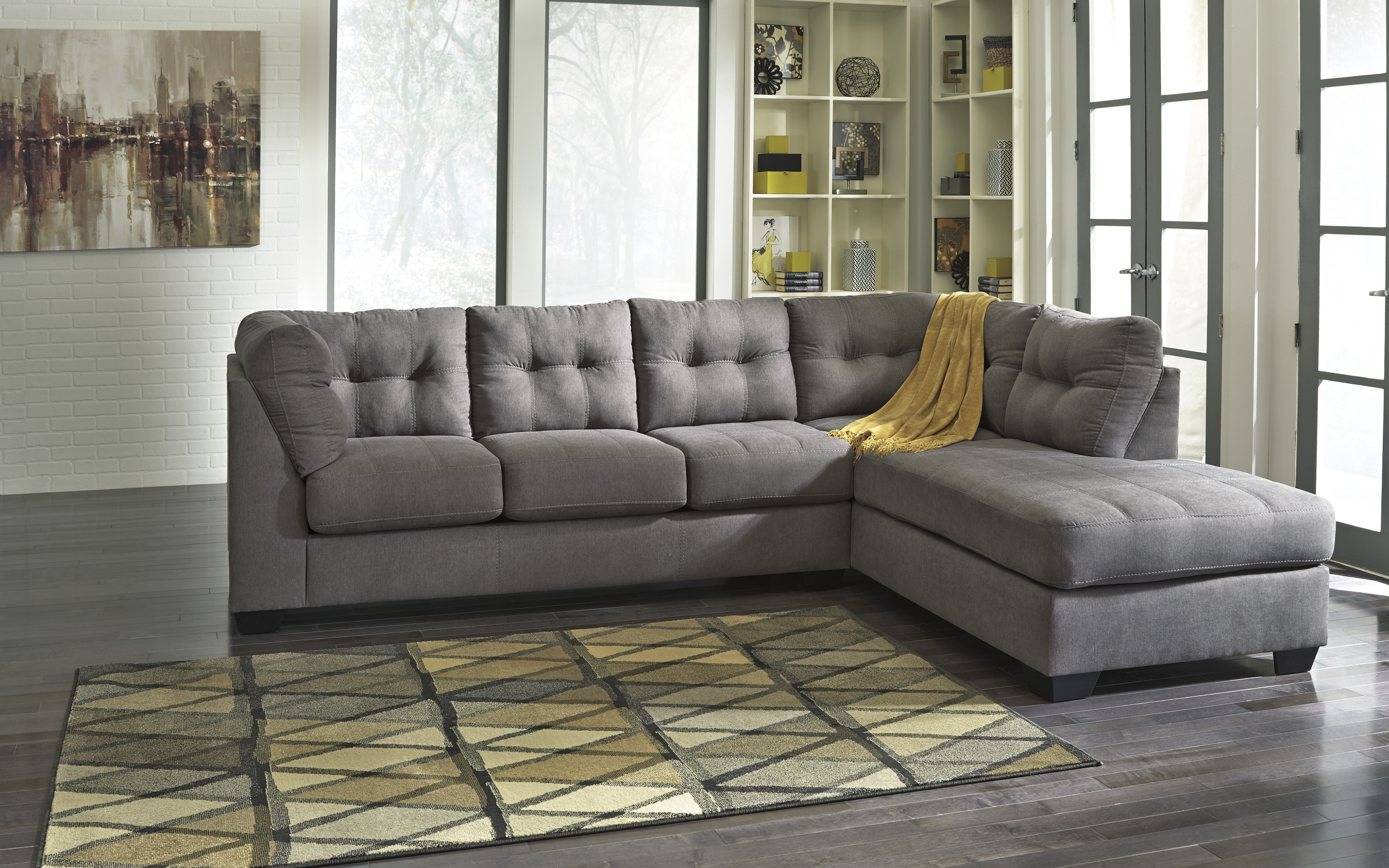 Ashley Tufted Sofas Intended For Well Known Couch: Best Gray Couch Ashley Furniture Standard Couch, Gray Couch (View 7 of 20)