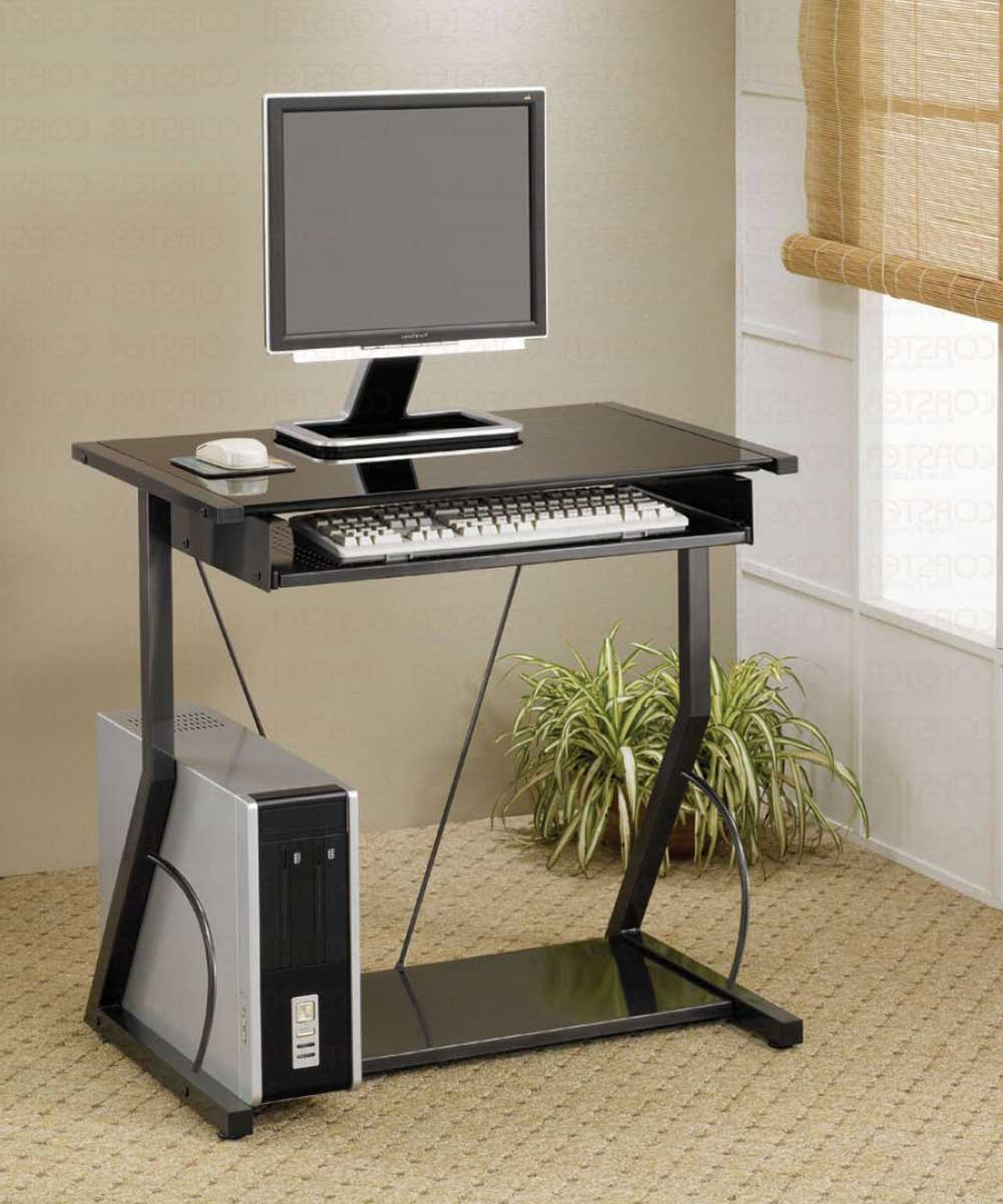 Assembled Computer Desks In Well Liked Computer Furniture For Small Spaces And Ideas Also Desk Bedroom (View 6 of 20)