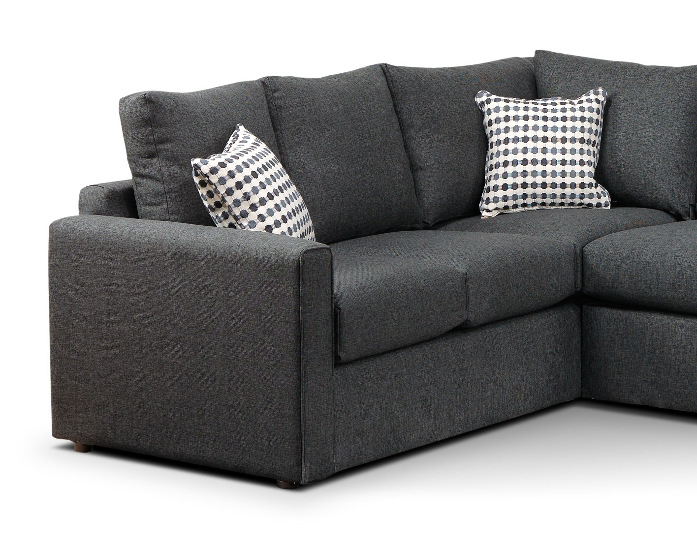 Athina 2 Piece Sectional With Left Facing Queen Sofa Bed With Trendy Vancouver Bc Canada Sectional Sofas (View 3 of 20)