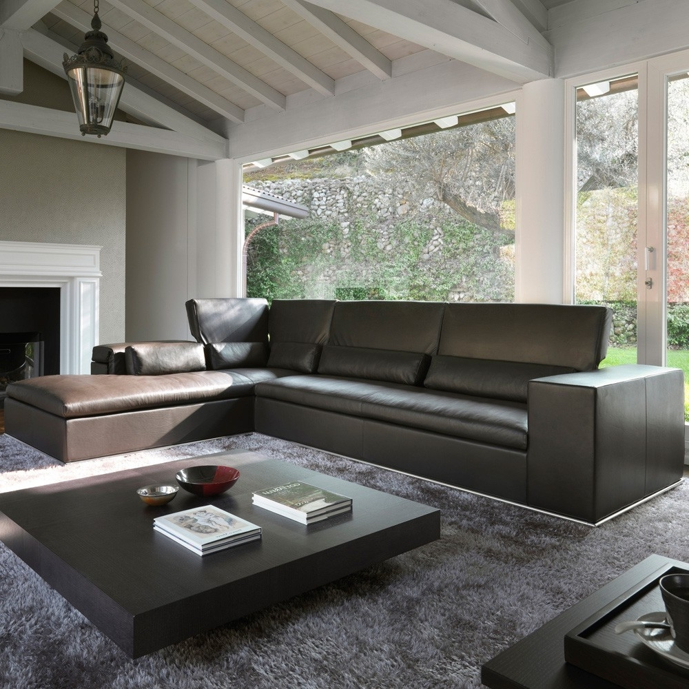 Atlanta Leather Sectional – Modern Leather Sectionals For 2018 Sectional Sofas At Atlanta (View 2 of 20)