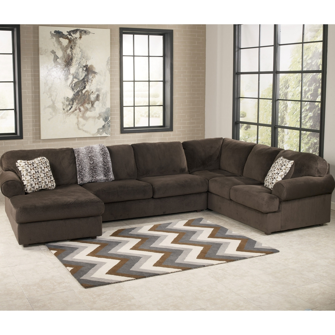Austin Sectional Sofas Intended For 2019 Signature Designashley Jessa Place 3 Pc (View 7 of 20)