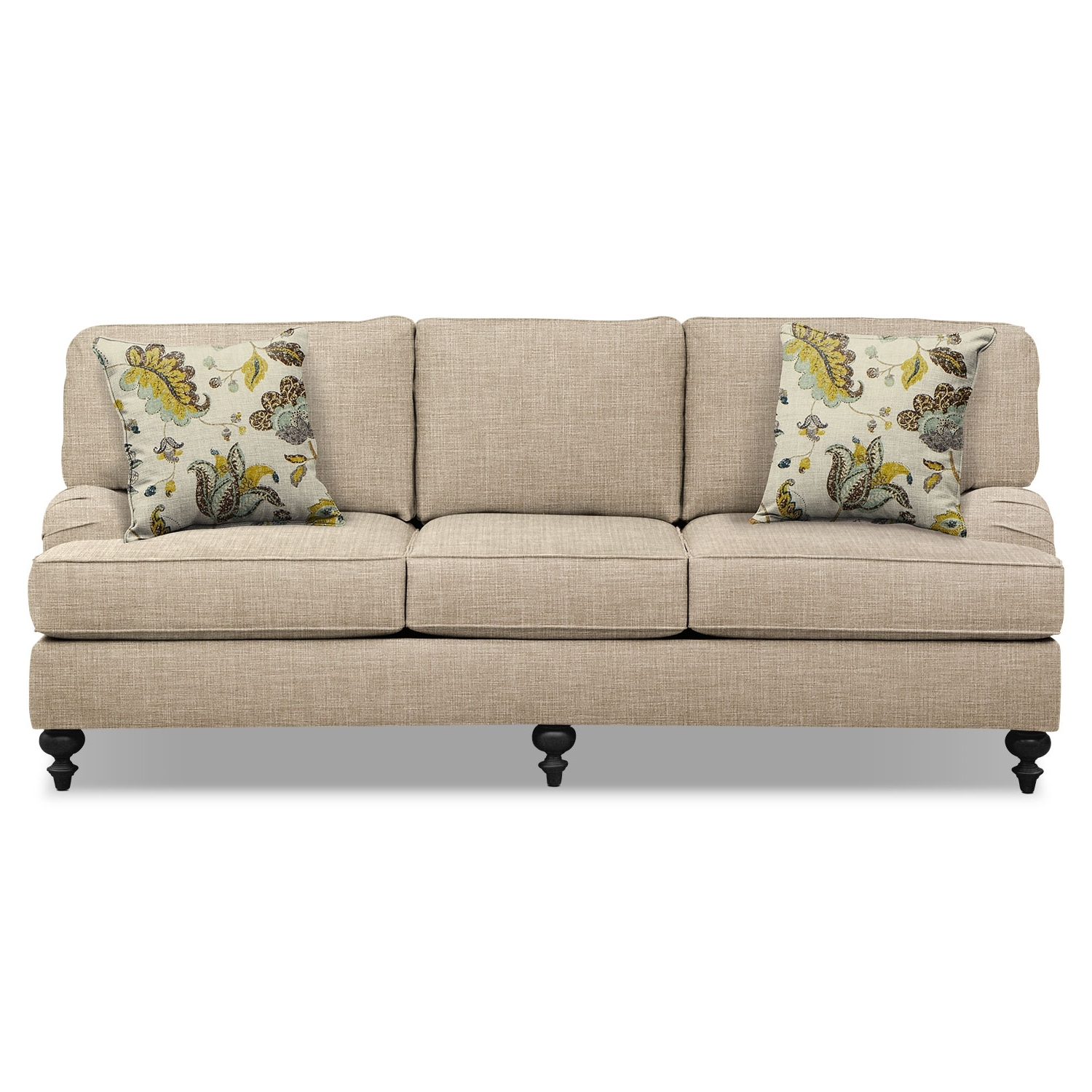 "Avery Taupe 86"" Sofa (View 2 of 20)"