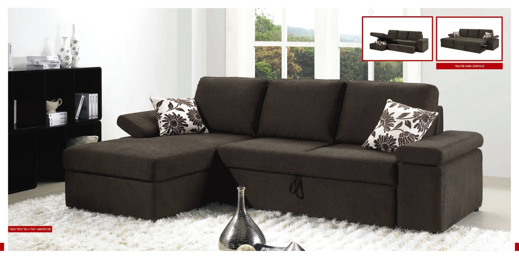 Awesome Fancy Small Sectional Sleeper Sofa 20 With Additional Home Pertaining To Well Known Pull Out Beds Sectional Sofas (View 9 of 20)