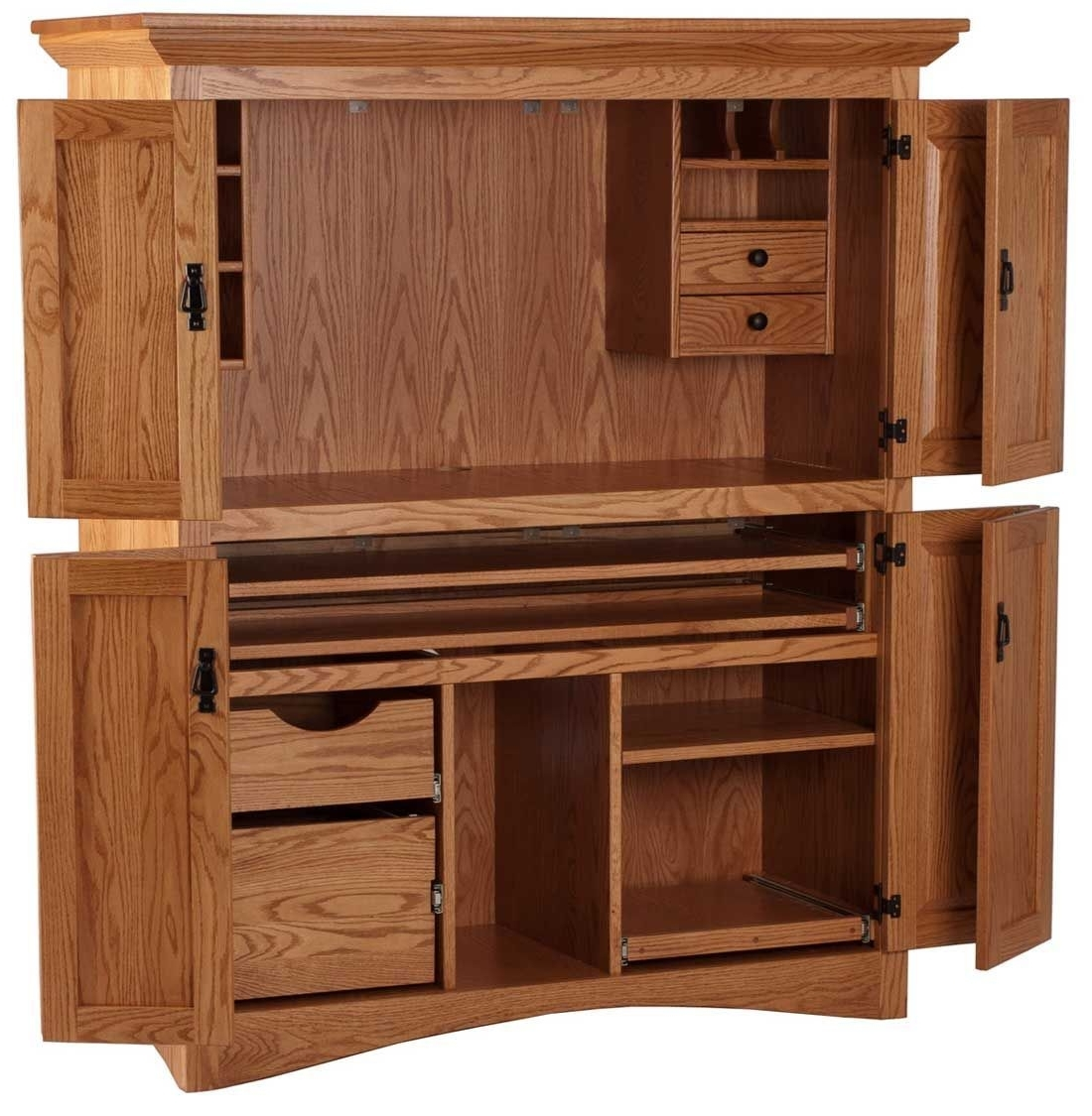 Awesome Home Office Solid Wood Computer Desk For Of Trends And On For 2019 Solid Wood Computer Desks (View 14 of 20)
