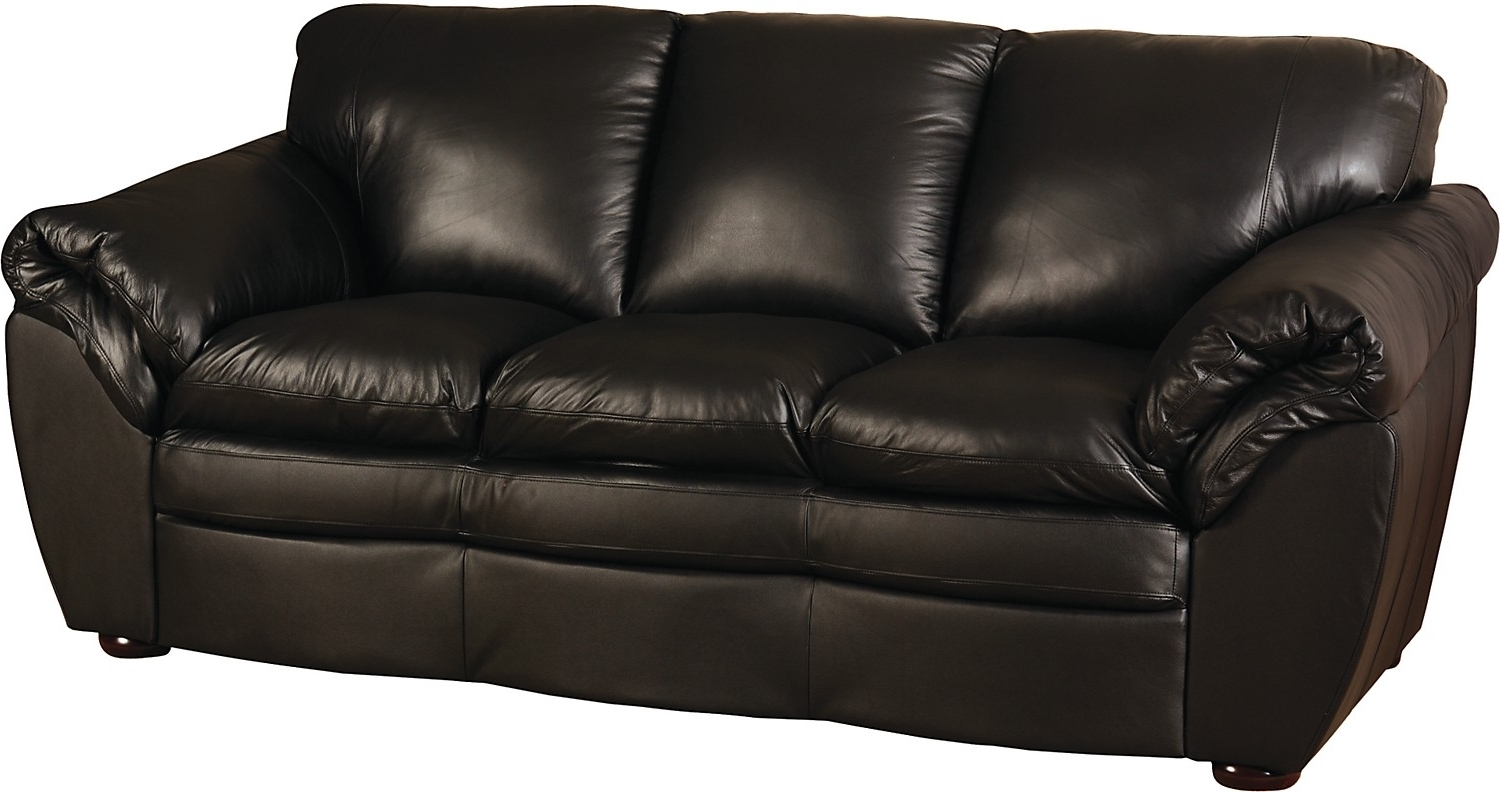 Awesome Simple Black Leather Couch Photos – Liltigertoo Throughout Most Up To Date The Brick Leather Sofas (View 8 of 20)
