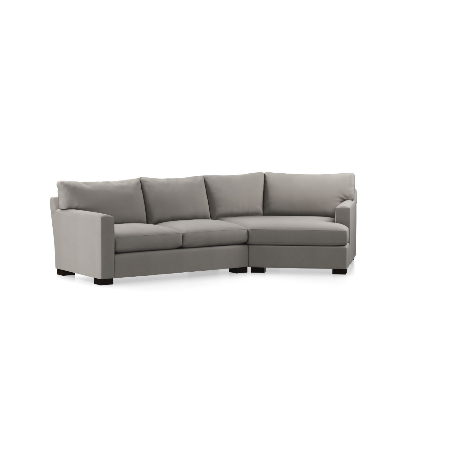 Axis Ii 2 Piece Left Arm Angled Chaise Sectional Sofa In Axis For Most Popular Angled Chaise Sofas (View 13 of 20)