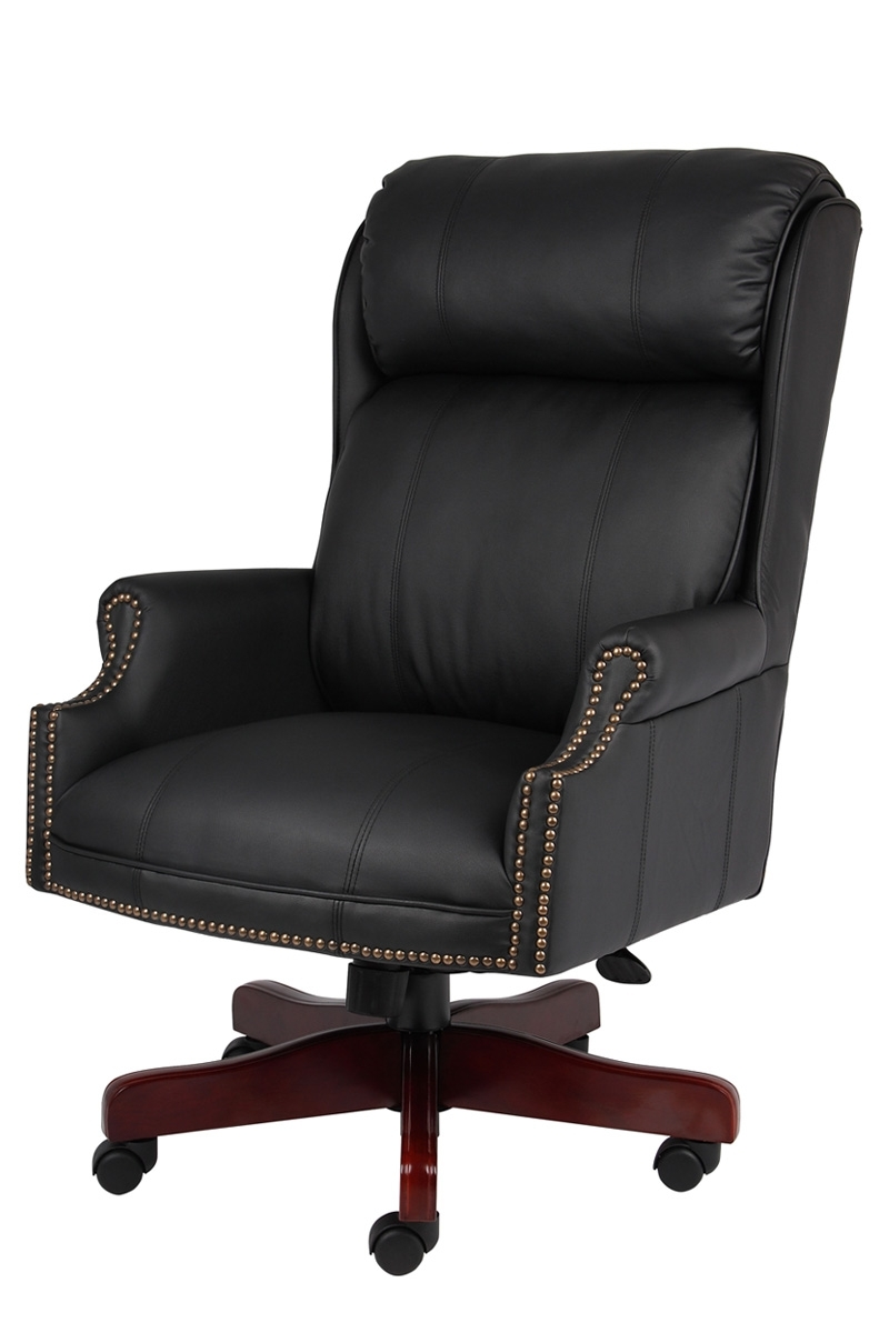 B980 Cp Boss – Traditional Executive High Back Plush Office Chair Regarding Preferred Plush Executive Office Chairs (View 3 of 20)