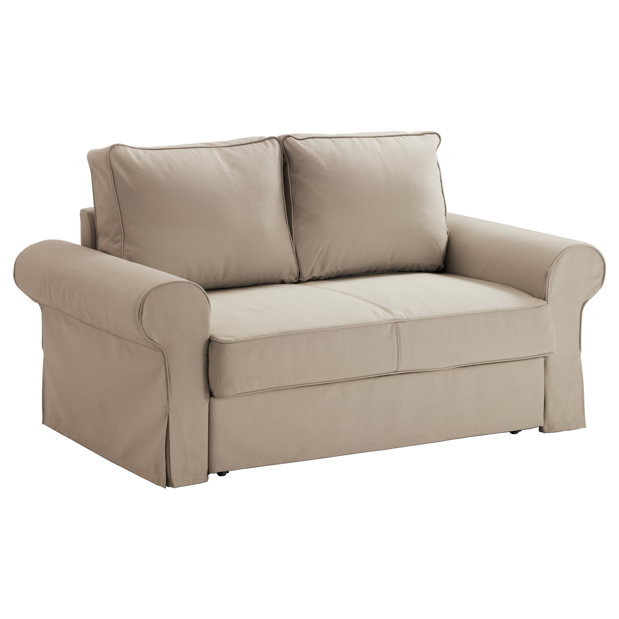 Backabro Two Seat Sofa Bed Ramna Beige – Ikea For Most Popular Ikea Two Seater Sofas (View 10 of 20)