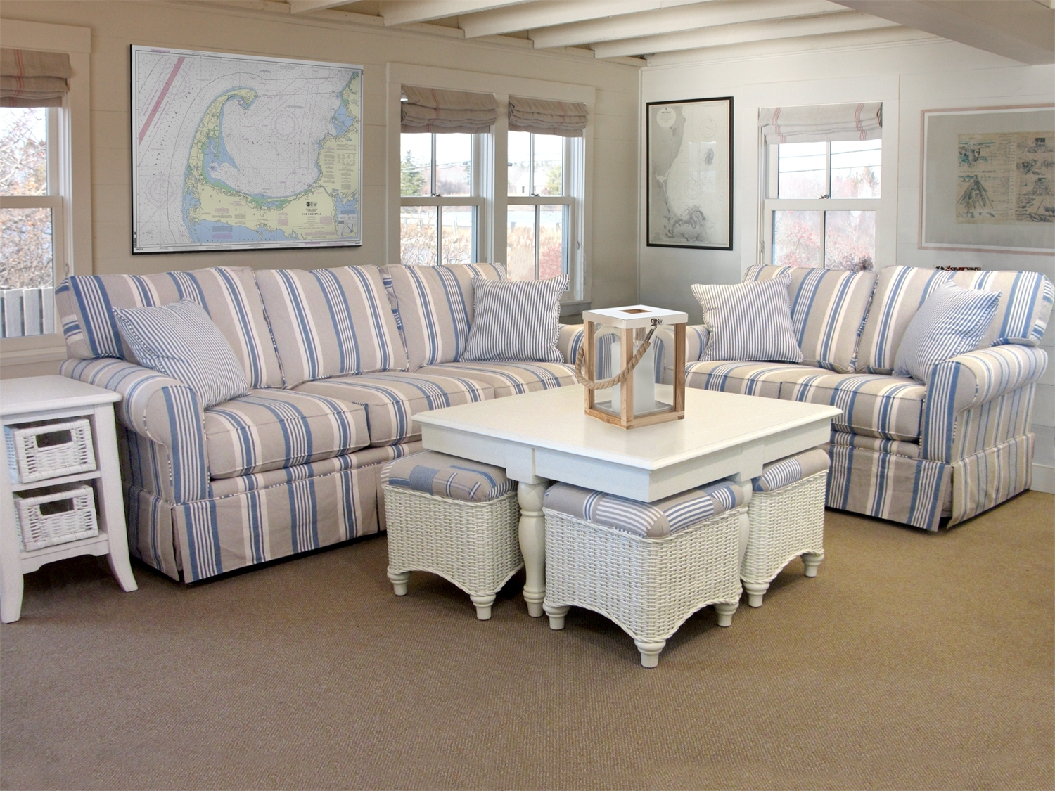 Barbos Furniture Intended For Well Known Striped Sofas And Chairs (View 3 of 20)