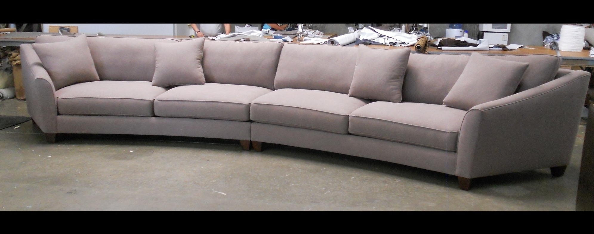Bargain Rounded Sectional Sofa Curved Design Cabinets Beds Sofas Regarding Trendy Rounded Sofas (View 1 of 20)