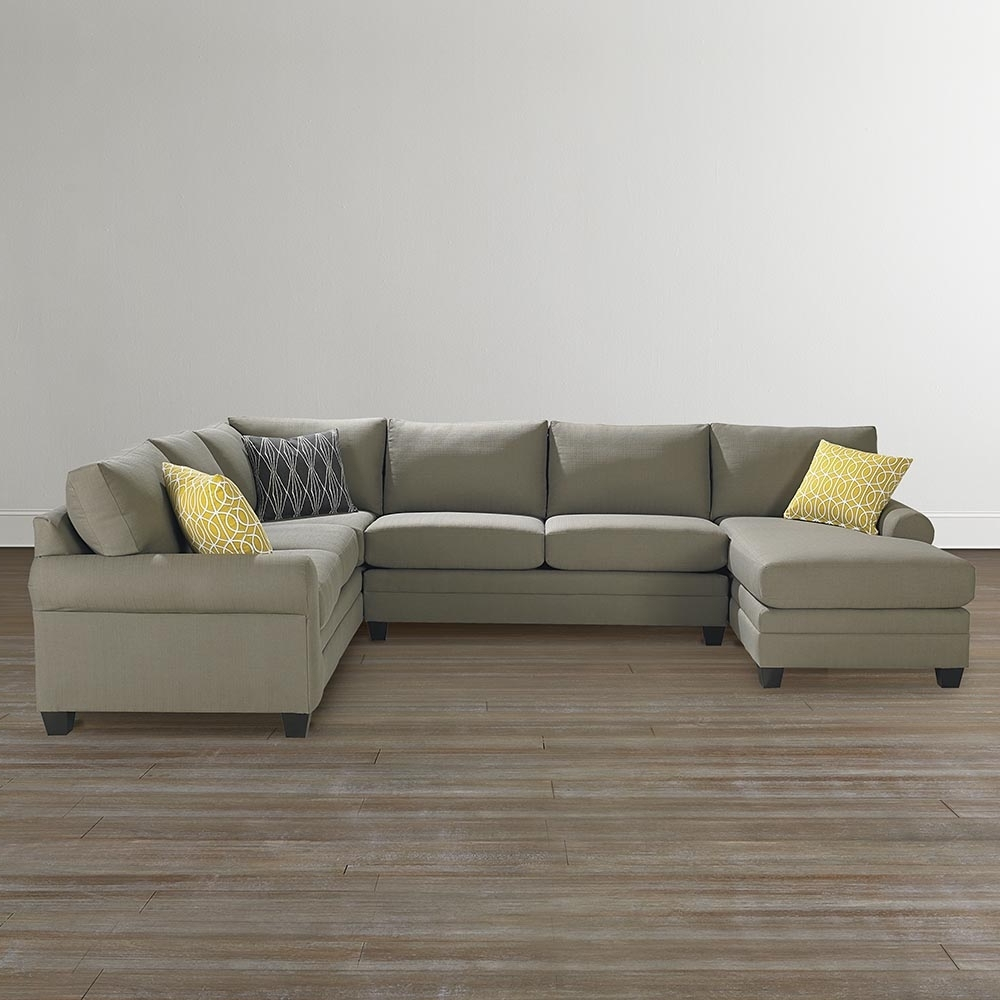 Bassett Home Furnishings With Regard To Newest Gray U Shaped Sectionals (View 1 of 20)