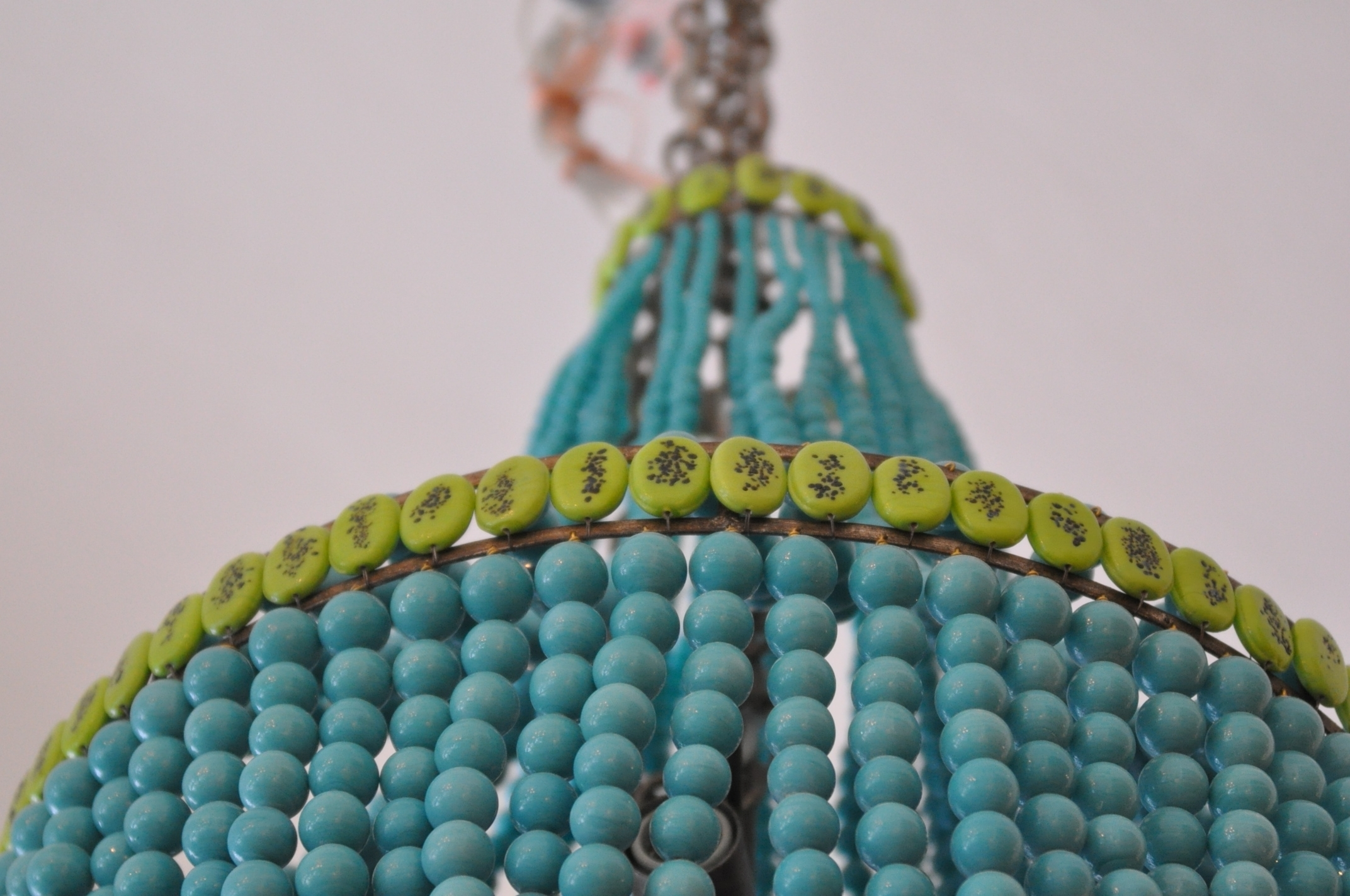Beaded Empire Style Chandelier – Mecox Gardens Intended For Favorite Turquoise Empire Chandeliers (View 13 of 20)