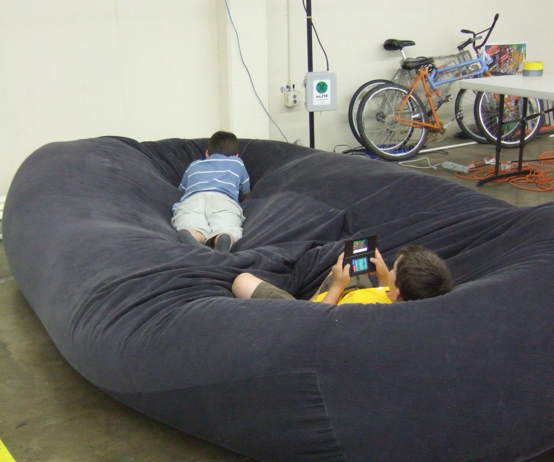 Bean Bag Sofas And Chairs Inside Preferred Bean Bag Sofa / Bed: 8 Steps (With Pictures) (View 7 of 20)