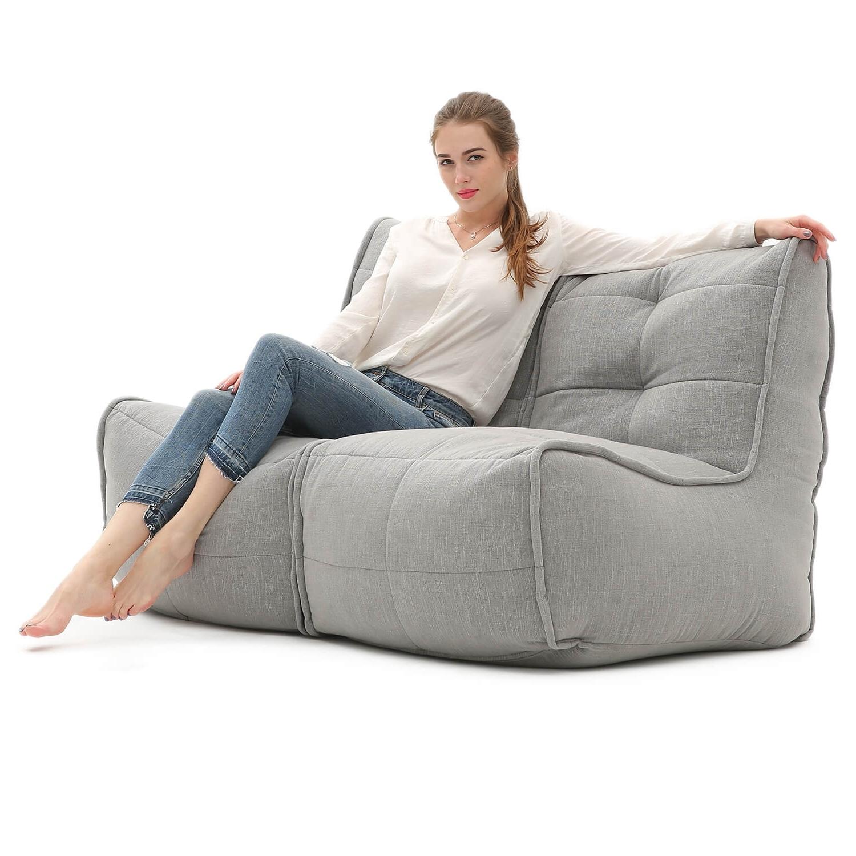 Bean Bag Sofas Inside Current Twin Couch Sofa – Keystone Grey – Bean Bags Australia (View 3 of 20)