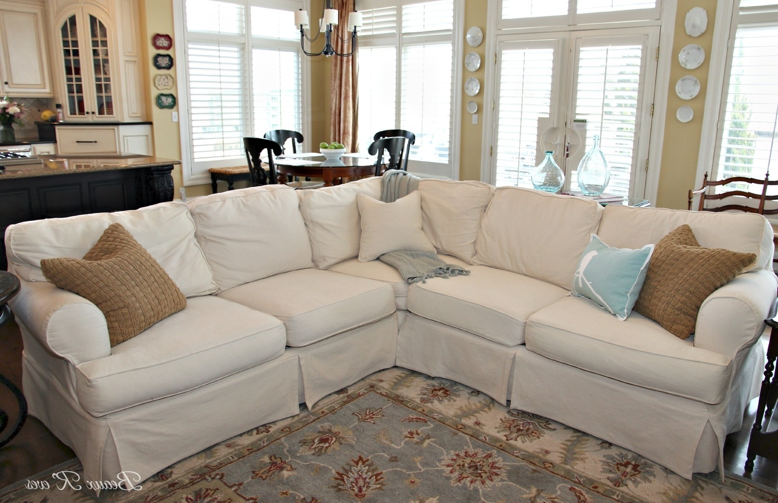 Beaux R'eves: Pottery Barn Knock Off Jcpenney Slipcovered For Famous Jcpenney Sectional Sofas (View 3 of 20)