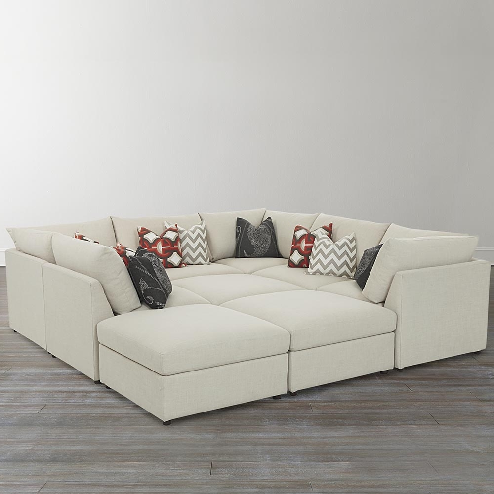 Beckham Upholstered Pit Sectional – Living Room (View 5 of 20)