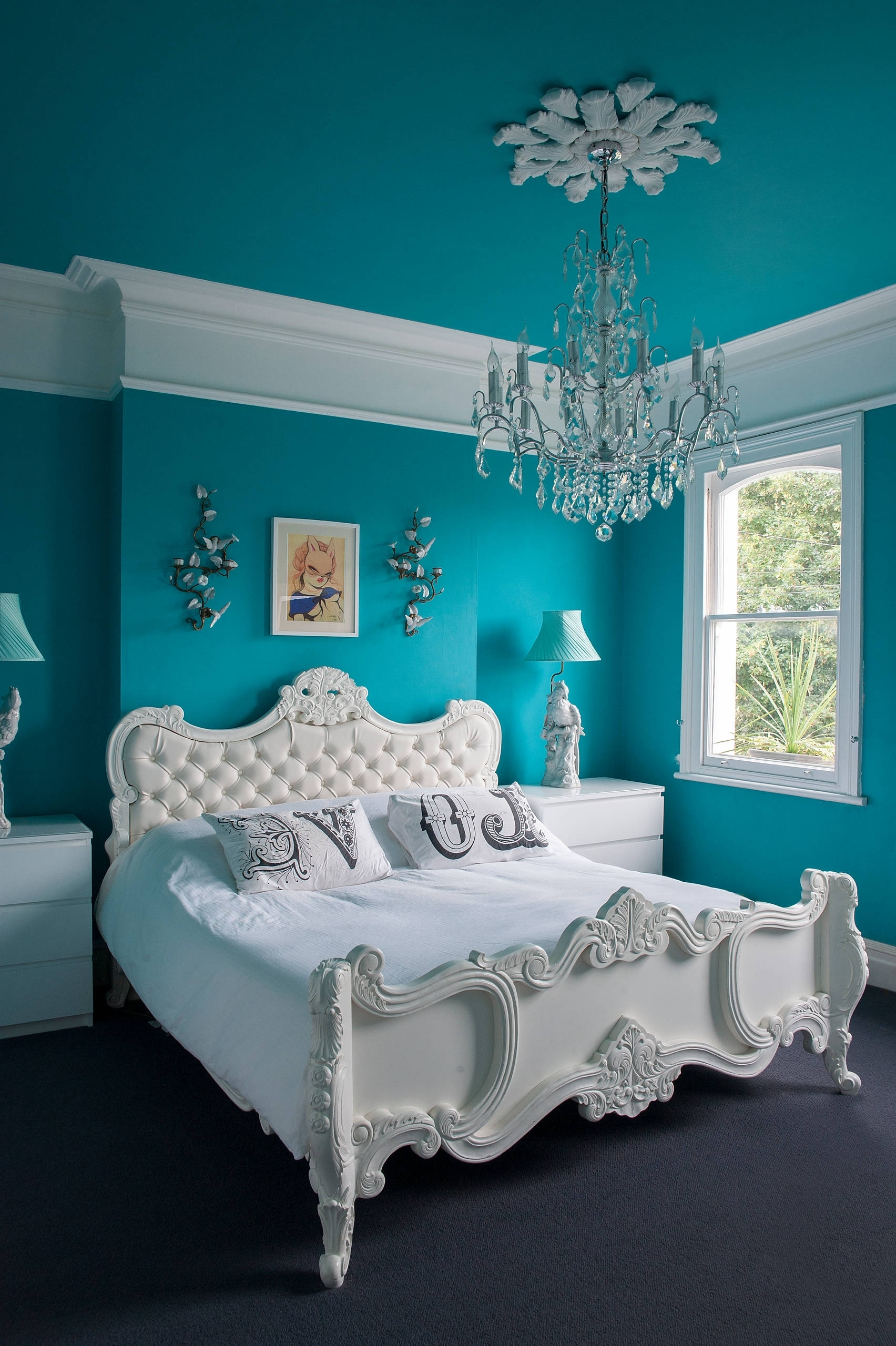 Bedroom: Turquoise Room Ideas For Modern Bedroom Design Idea Pertaining To Most Popular Turquoise Bedroom Chandeliers (View 6 of 20)