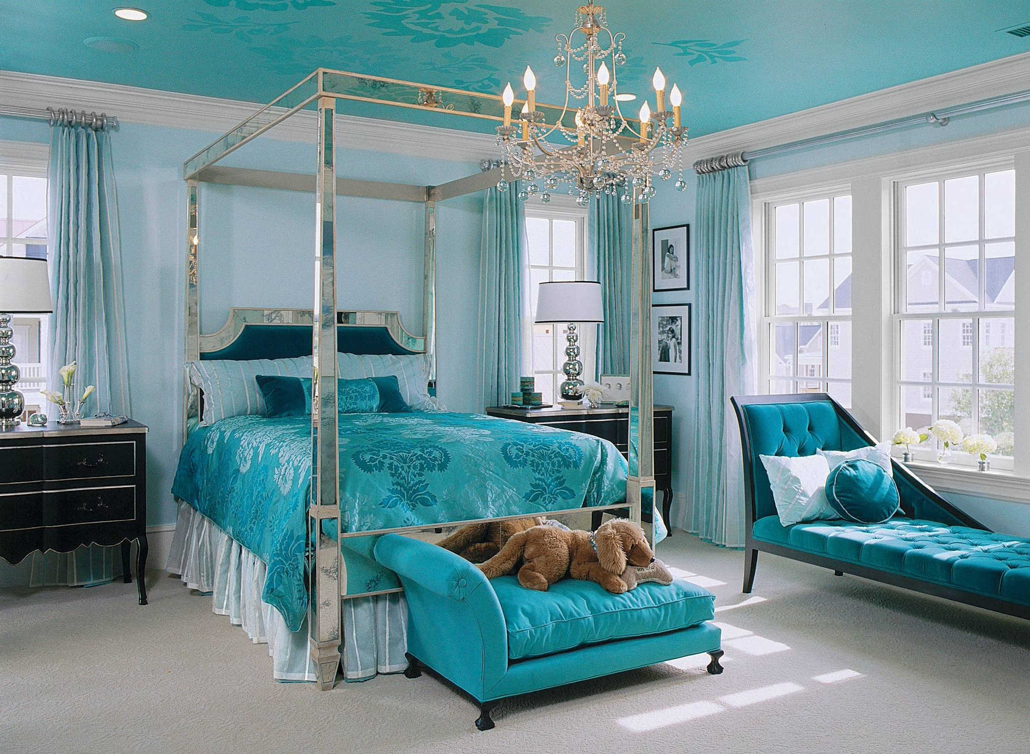 Bedroom: Turquoise Room Ideas For Modern Bedroom Design Idea With Recent Turquoise Bedroom Chandeliers (View 9 of 20)
