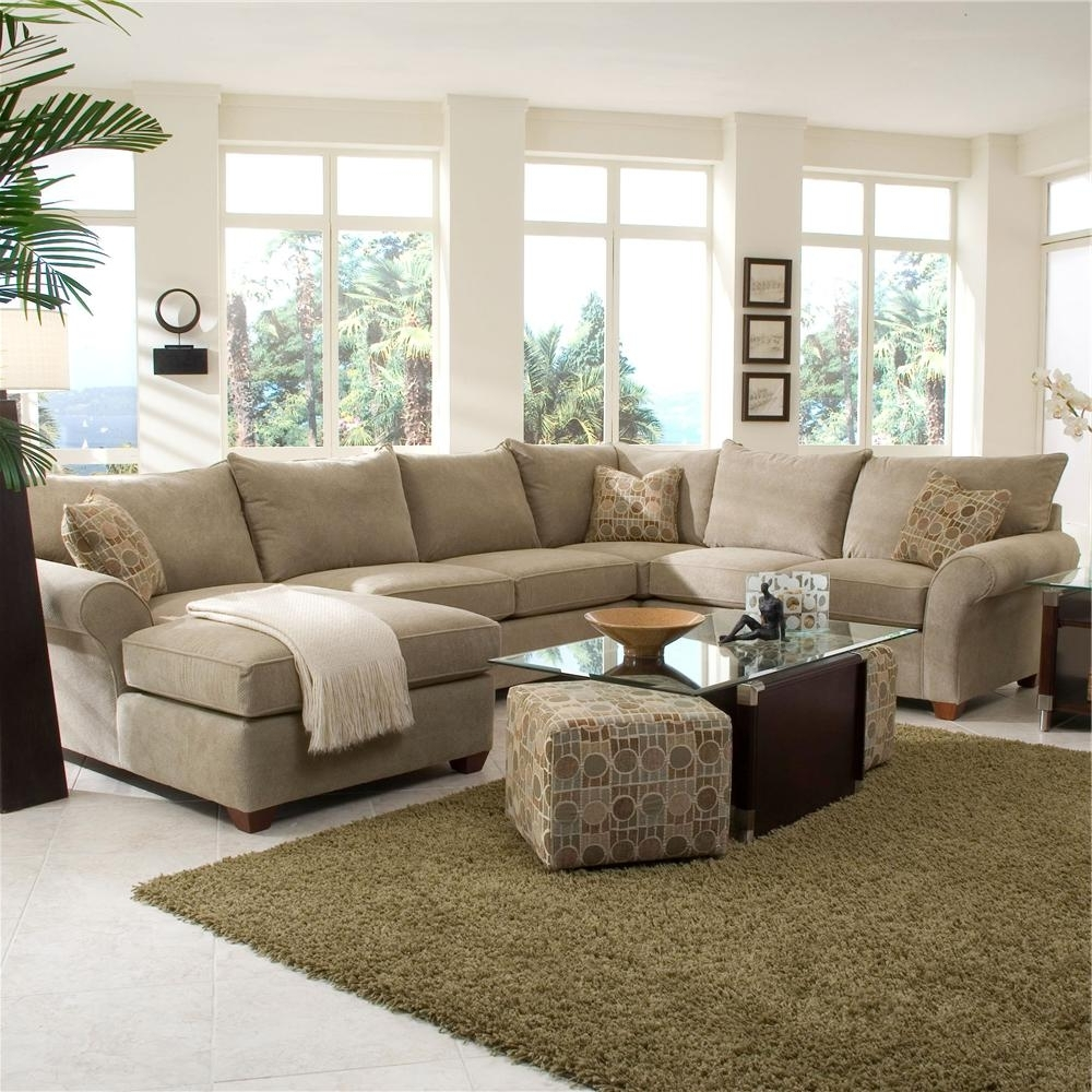 Beige Sectional Sofas Regarding Famous Klaussner Fletcher Spacious Sectional With Chaise Lounge (View 5 of 20)