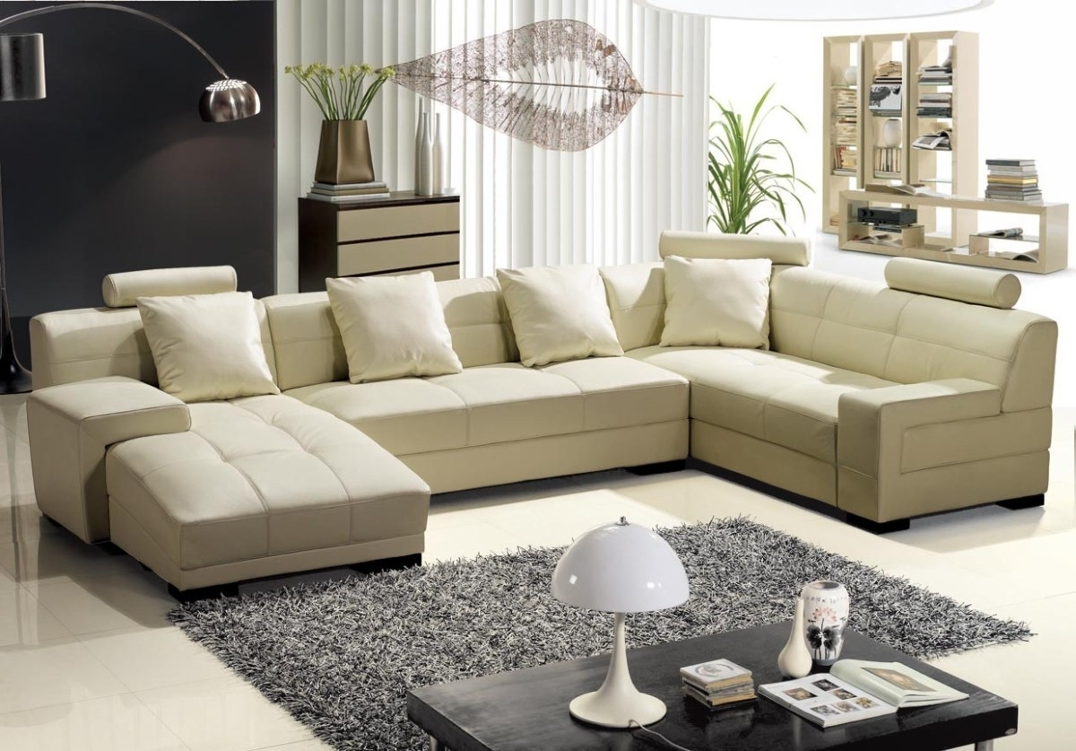 Beige Sectional Sofas Within Best And Newest Best Of Beige Leather Sectional Sofa – Buildsimplehome (View 6 of 20)