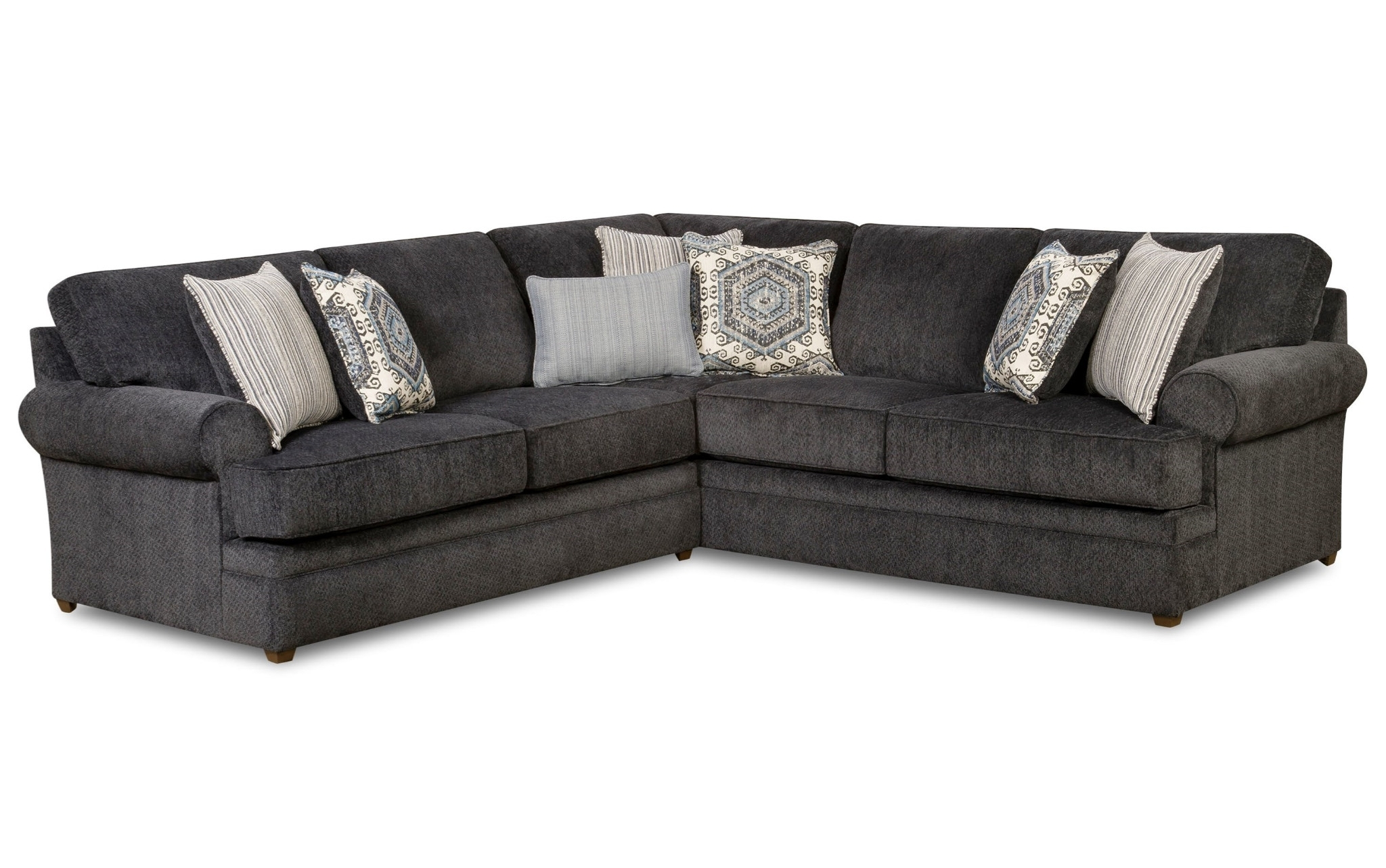 Bellamy Slate 2 Piece Sectional Beauty Restsimmons $899.00 Within Latest Greensboro Nc Sectional Sofas (Gallery 16 of 20)