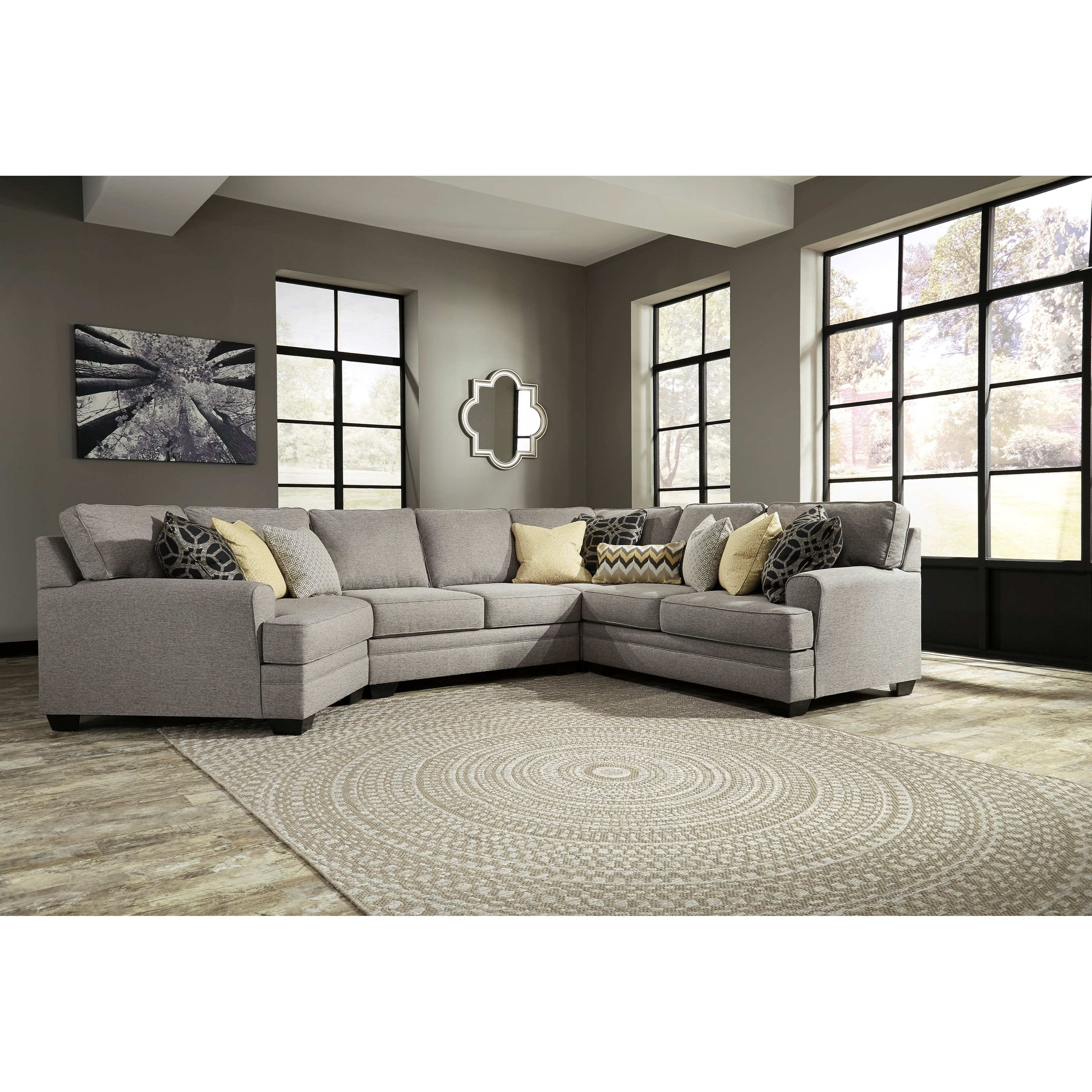 Benchcraft Cresson Contemporary 4 Piece Sectional With Cuddler Intended For Most Up To Date Cuddler Sectional Sofas (View 18 of 20)