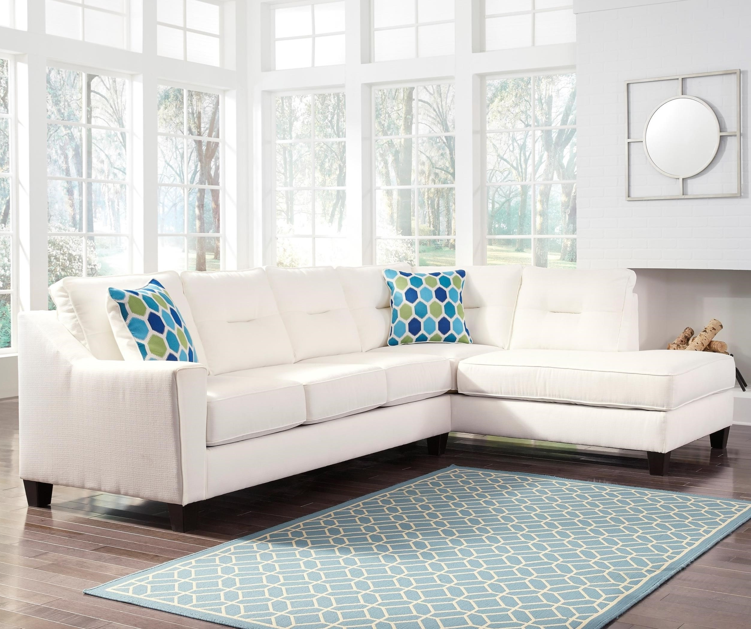 Benchcraft Kirwin Nuvella Sectional With Left Chaise In Intended For Recent East Bay Sectional Sofas (View 19 of 20)