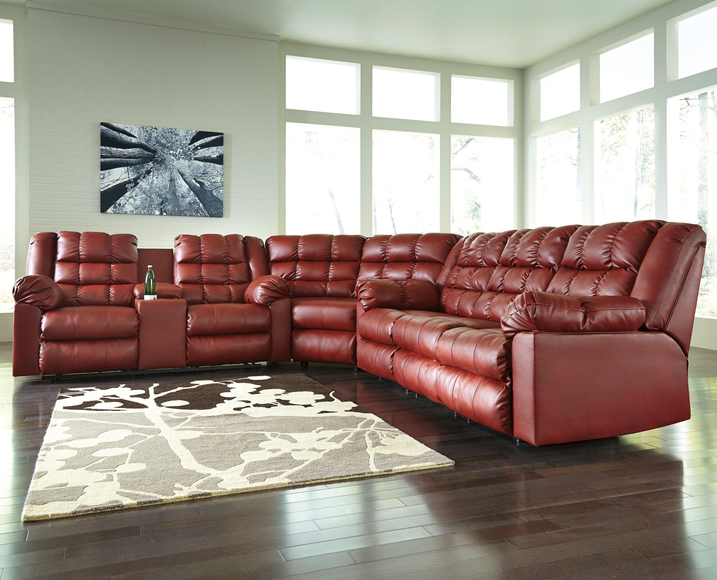 Best And Newest 102x102 Sectional Sofas With Regard To Brolayne Durablend® 3 Piece Reclining Sectionalsignature (View 19 of 20)