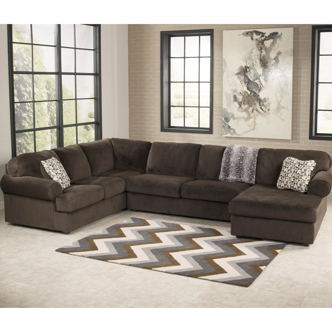 Best And Newest 10x8 Sectional Sofas Throughout Brown Sectional Living Room (View 9 of 20)