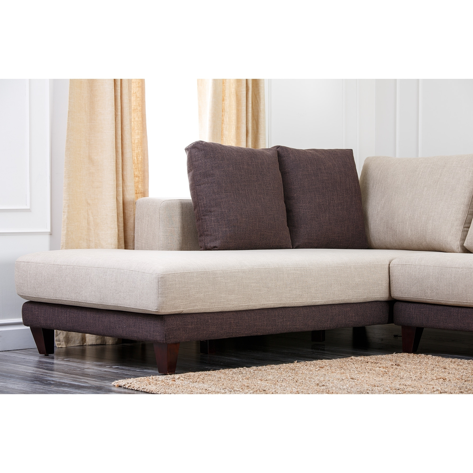 Best And Newest Abbyson 'verona' Fabric Sectional Sofa – Free Shipping Today Inside Fabric Sectional Sofas (View 2 of 20)