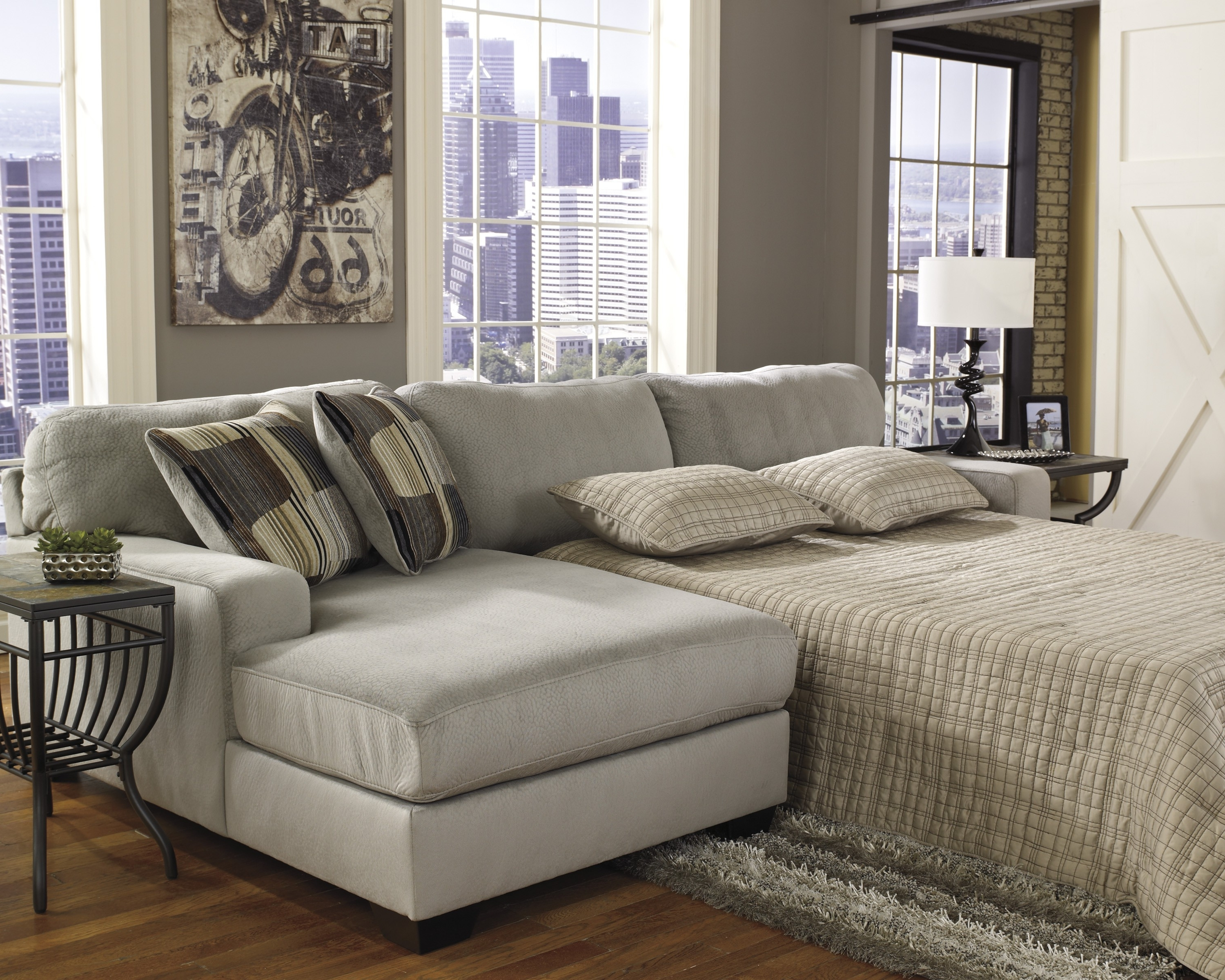 Best And Newest Adjustable Sectional Sofas With Queen Bed Within Sofa : Magnificent Sectional Sofa Queen Bed Great Sleeper (View 5 of 20)