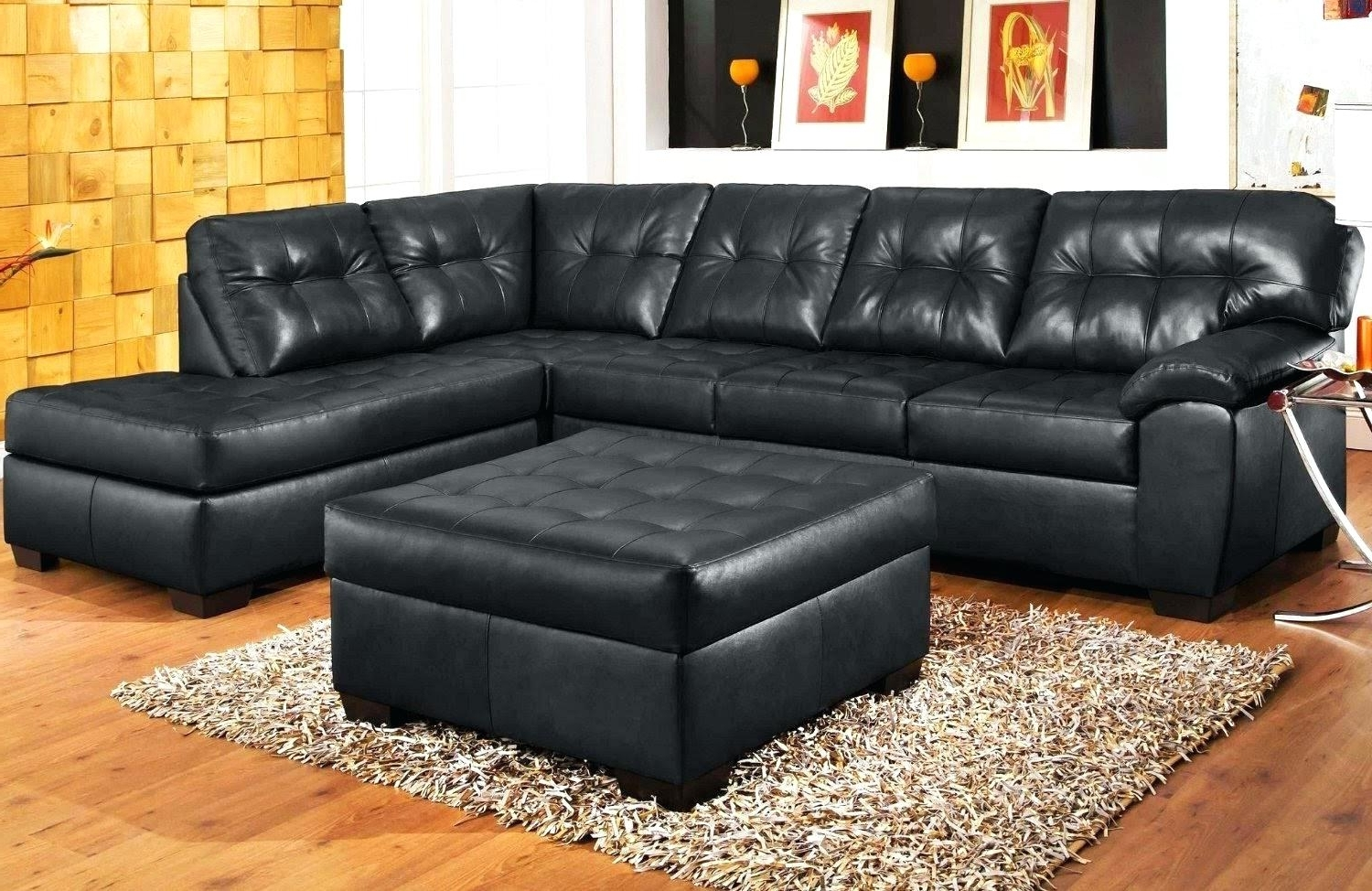 Best And Newest Black Sectional Sofas For Black Sectional Couch Sofa With Chaise For Cheap Leather Recliner (View 6 of 20)