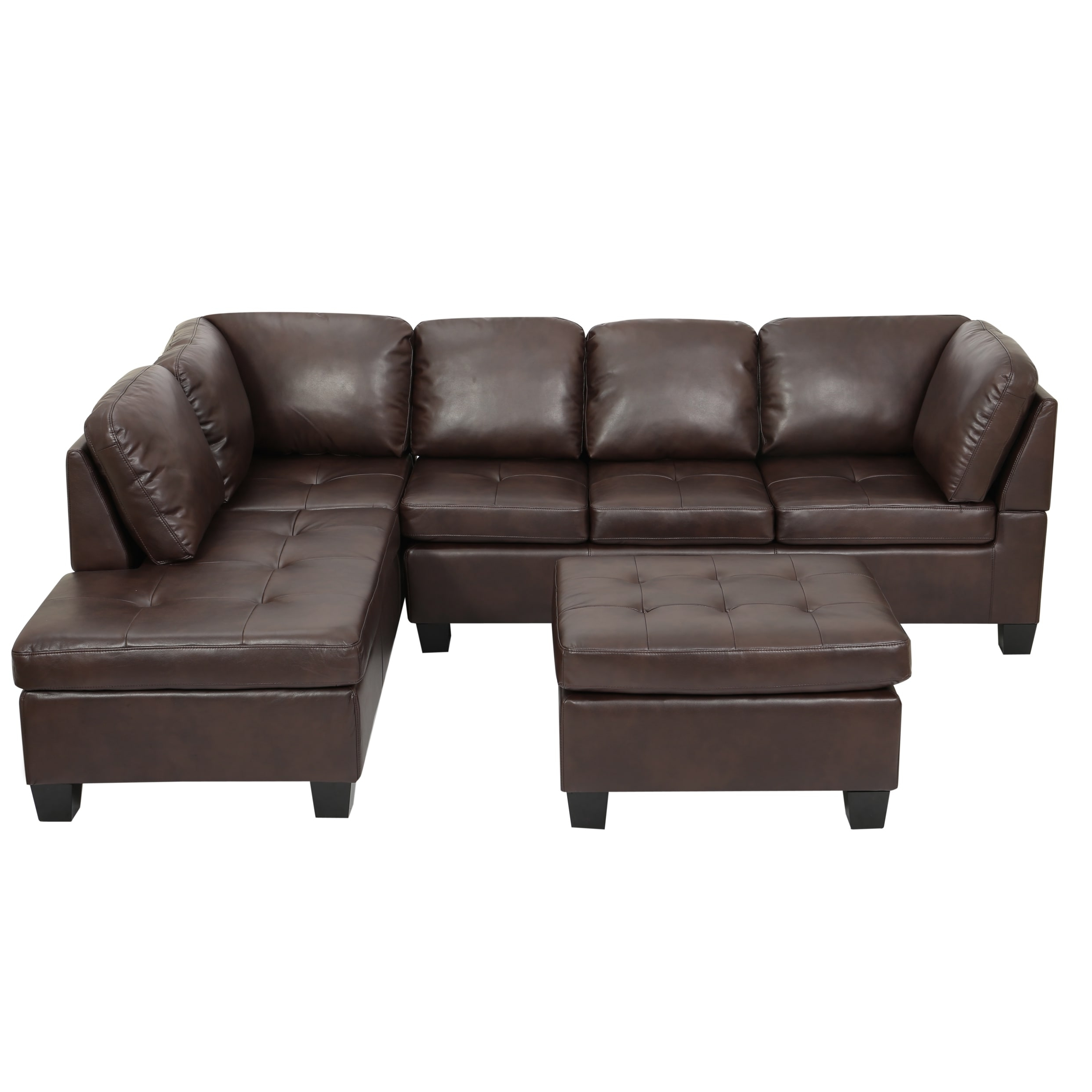Best And Newest Canterbury 3 Piece Pu Leather Sectional Sofa Setchristopher Inside Canterbury Leather Sofas (View 5 of 20)