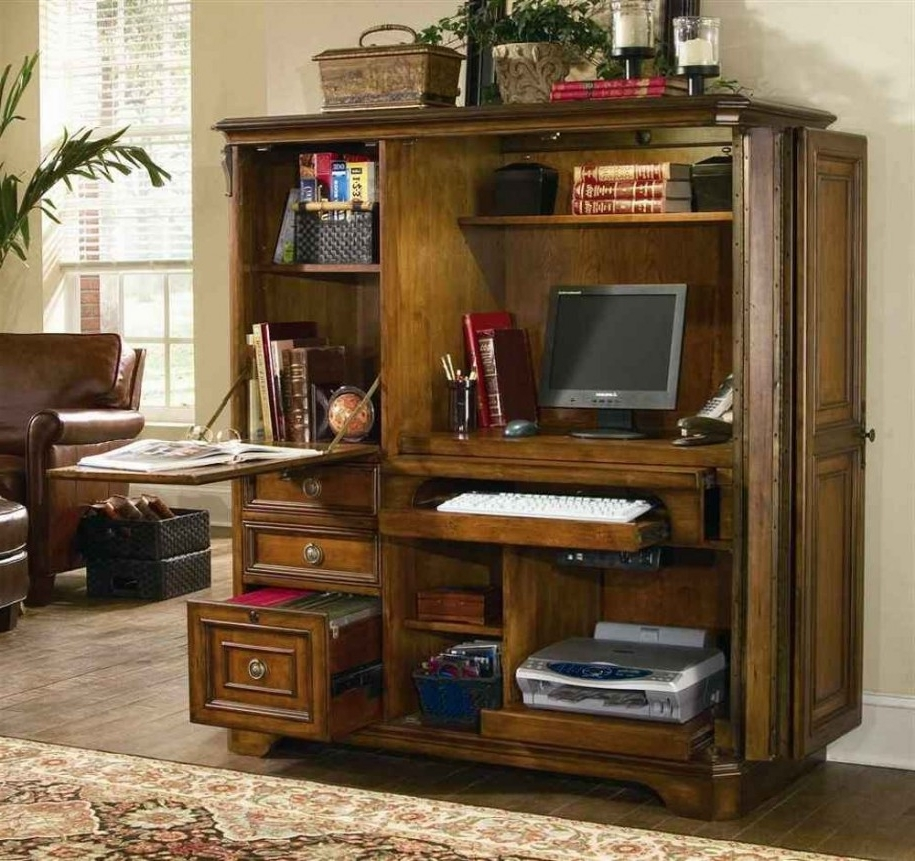 Best And Newest Desk: Inspiring Enclosed Computer Desk 2017 Ideas Sauder Enclosed Inside Enclosed Computer Desks (View 4 of 20)