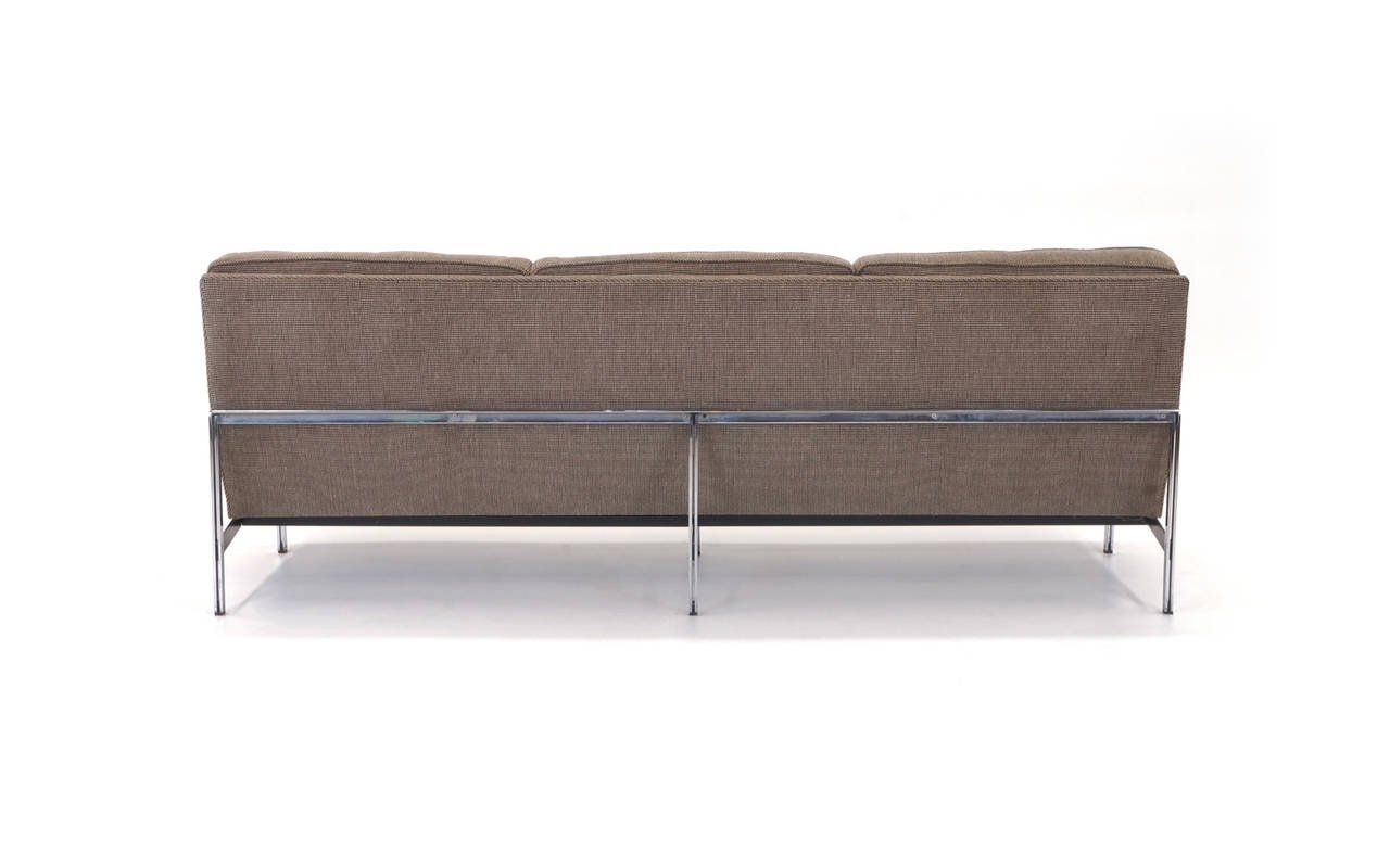 Best And Newest Florence Grand Sofas Inside Florence Knoll Parallel Bar Three Seat Armless Sofa At 1Stdibs (View 1 of 20)