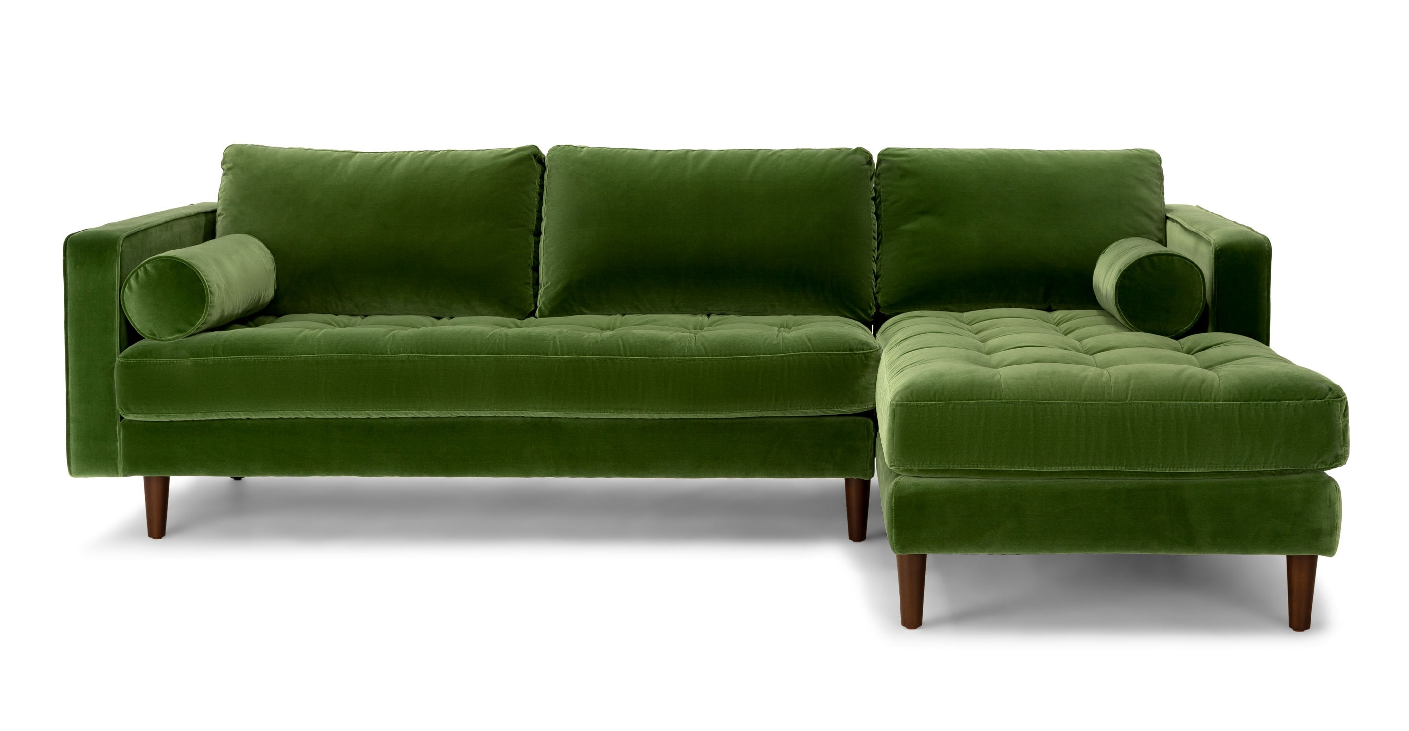 Best And Newest Green Sectional Sofas Inside Olive Green Chenille Fabrical Sofa Seafoam Emerald Leather Sage (View 6 of 20)