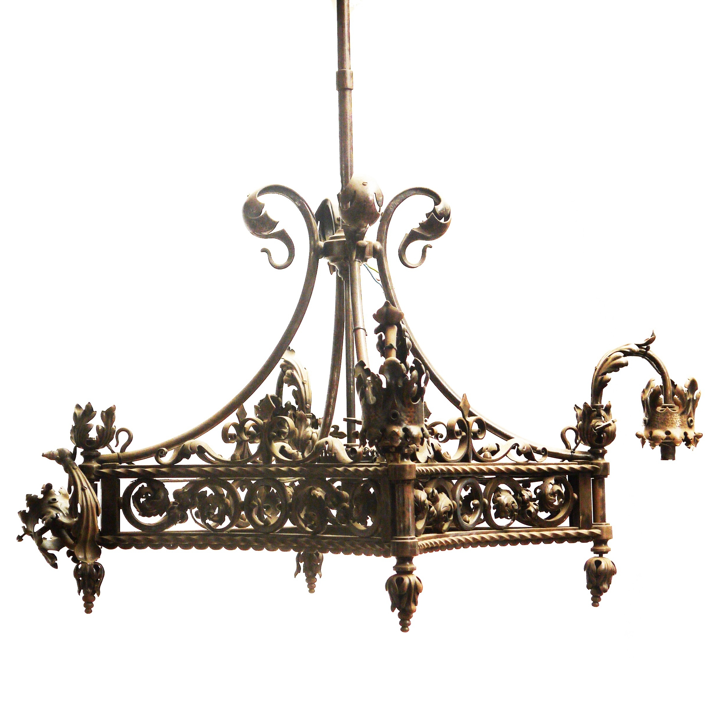 Best And Newest Home Design : Vintage Wrought Iron Chandelier Vintage Floral Wrought Pertaining To Vintage Wrought Iron Chandelier (View 3 of 20)