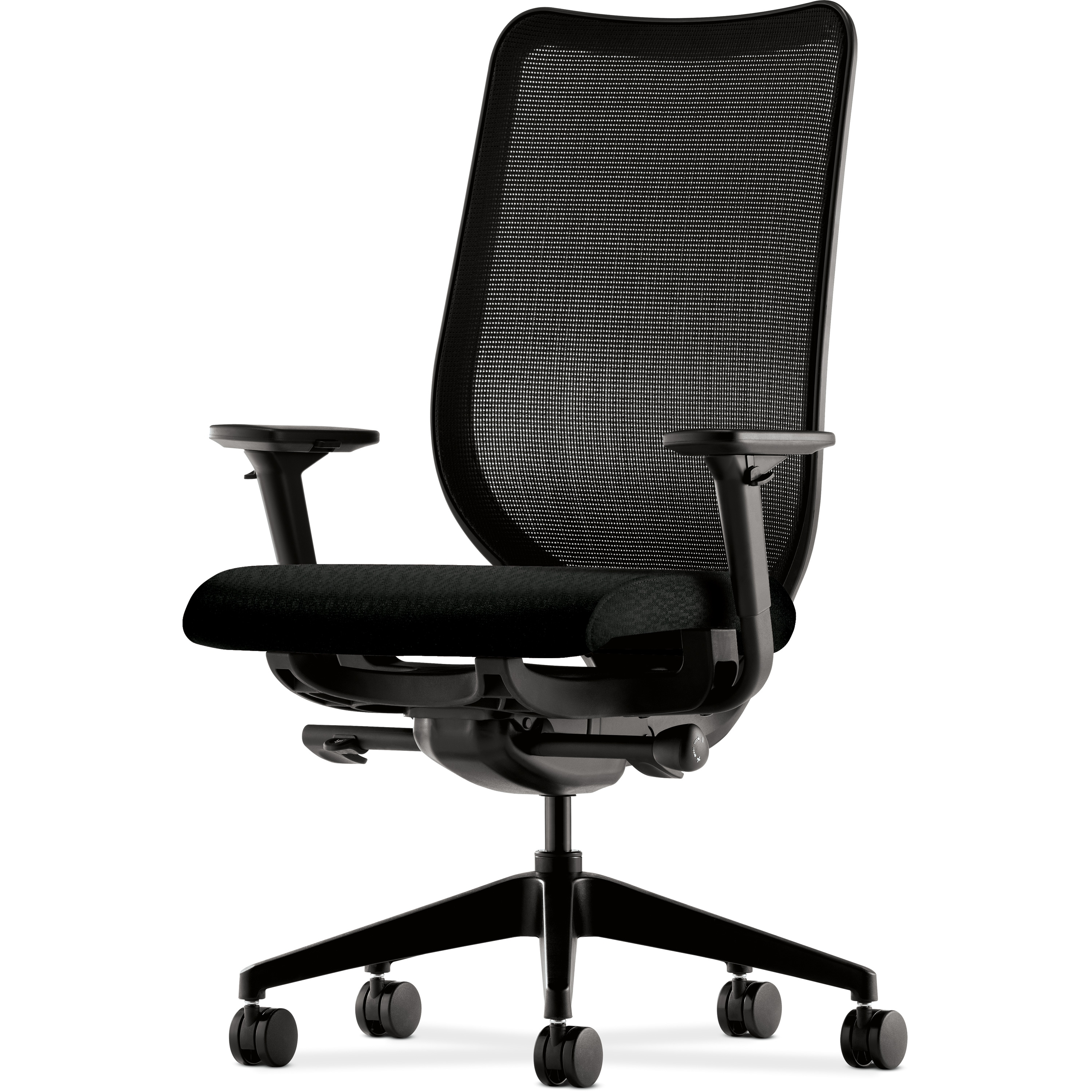 Best And Newest Hon Executive Office Chairs Pertaining To Hon Nucleus M4 Back Work Chair Mesh Back Black Seat, Honn103Nt (View 4 of 20)