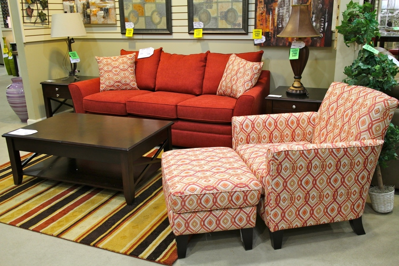 Best And Newest Klaussner Red Sofa & Accent Chair – Colleen's Classic Consignment With Regard To Accent Sofa Chairs (View 12 of 20)