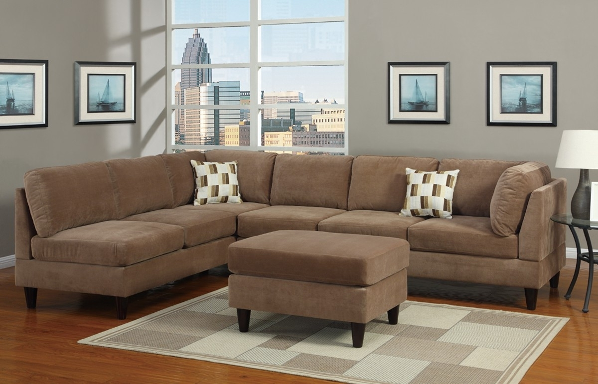Best And Newest Microsuede Sectional Sofas Pertaining To The Beauty Of Microfiber Sectional Sofa – Blogalways (View 5 of 20)