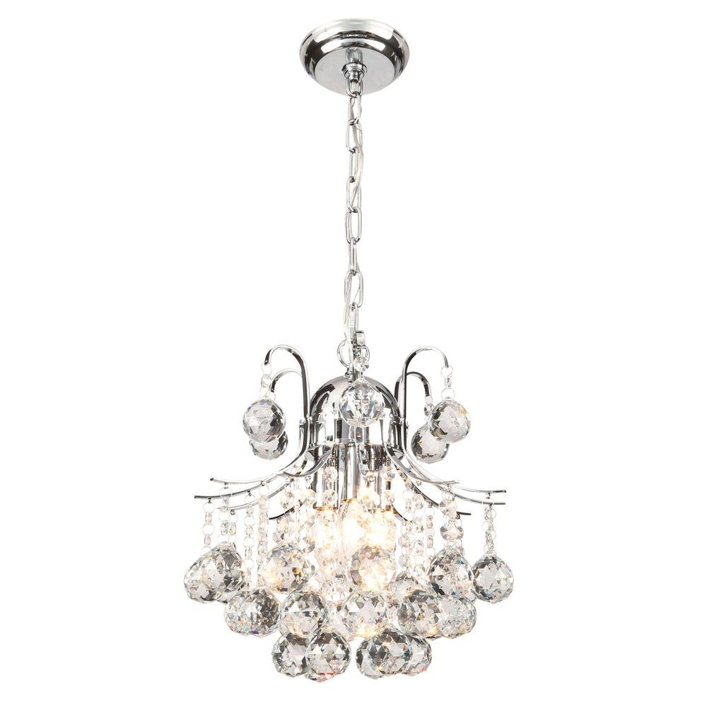 Best And Newest Mini – Chandeliers – Lighting – The Home Depot Regarding Small Chrome Chandelier (View 4 of 20)