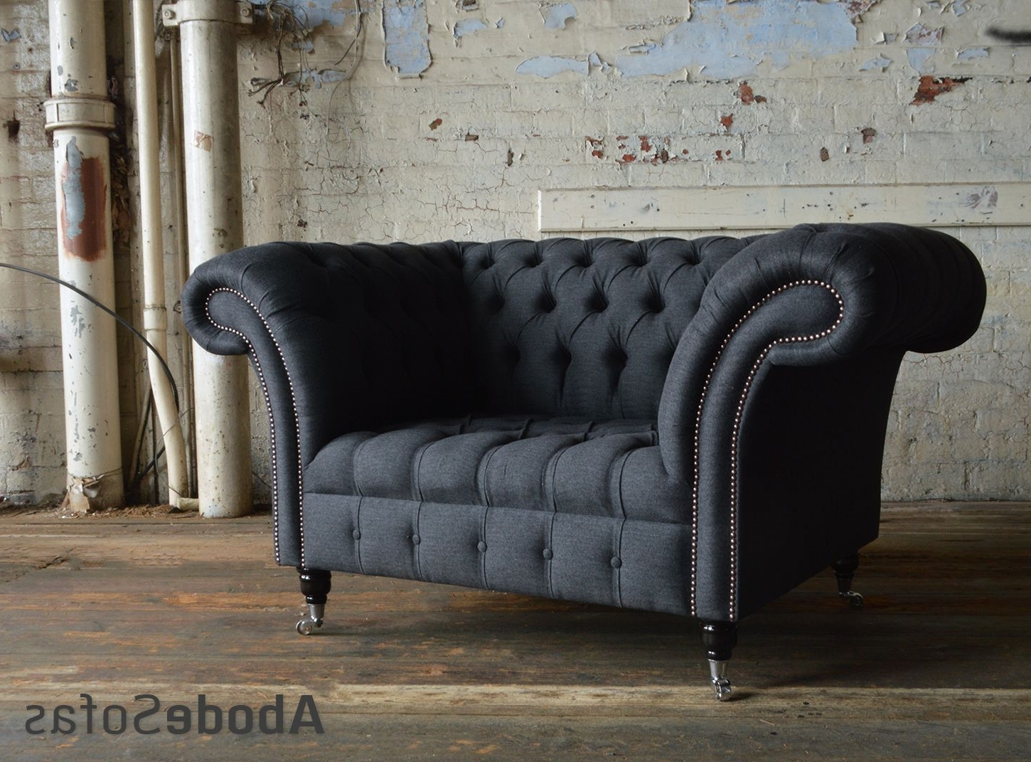 Best And Newest Modern British Handmade Nuvo Linen Weave Deep Buttoned Intended For Snuggle Sofas (View 8 of 20)