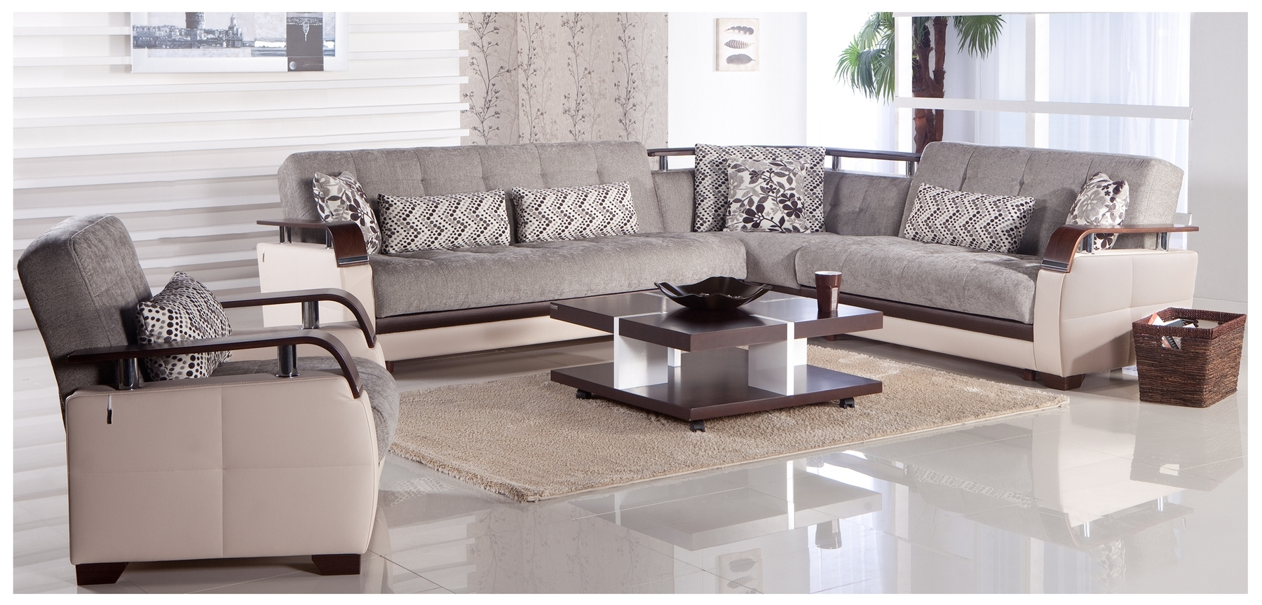 Best And Newest Modern Microfiber Sectional Sofas For Contemporary Microfiber Sectional Sofa (View 7 of 20)